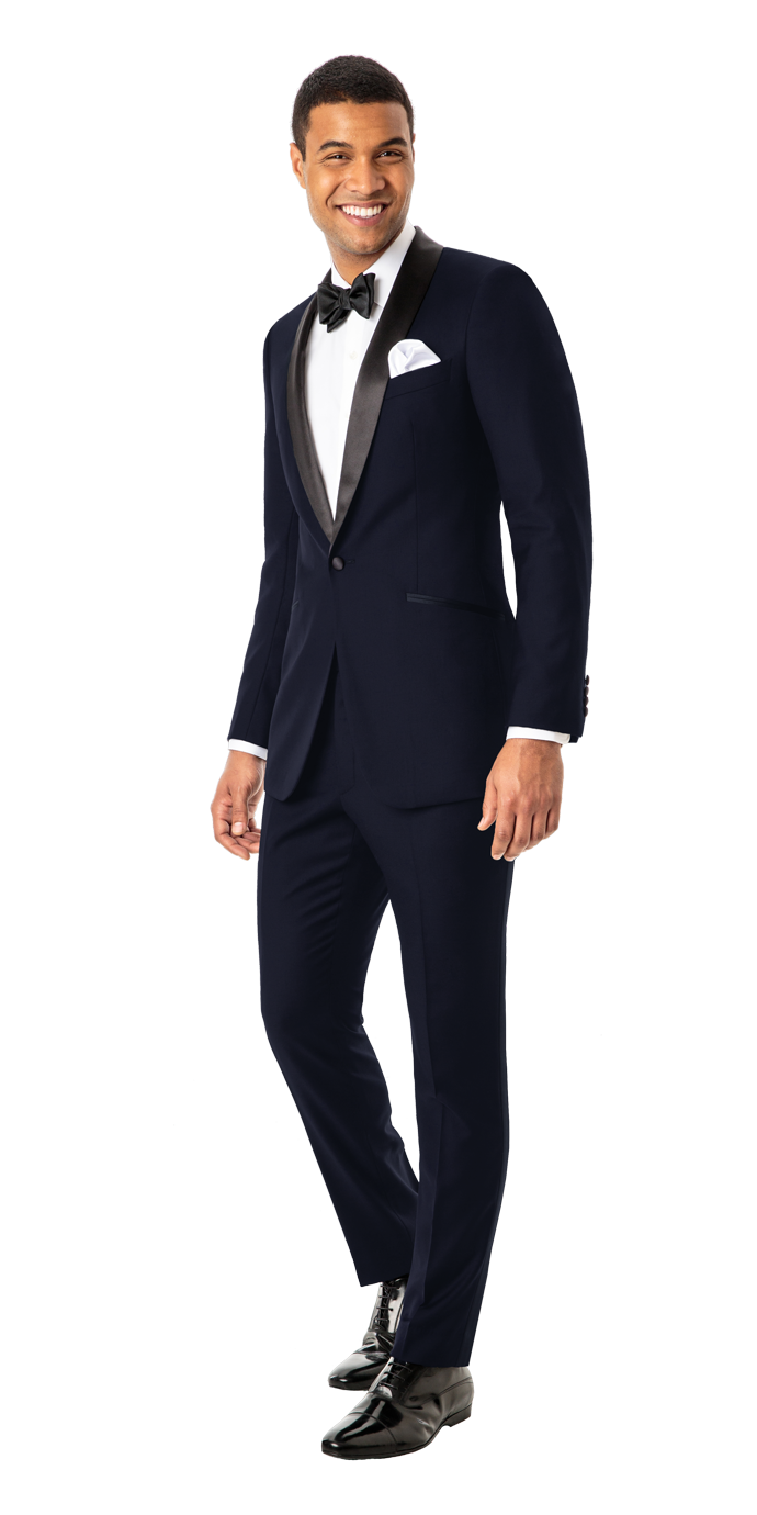 Custom Tuxedo in Midnight Blue  Looking for a dapper, mysterious substitute for the classic black tuxedo?...It's just as formal as its solid black counterparts but just different enough where you'll draw frequent, surreptitious glances of admiration.  - © Black Lapel