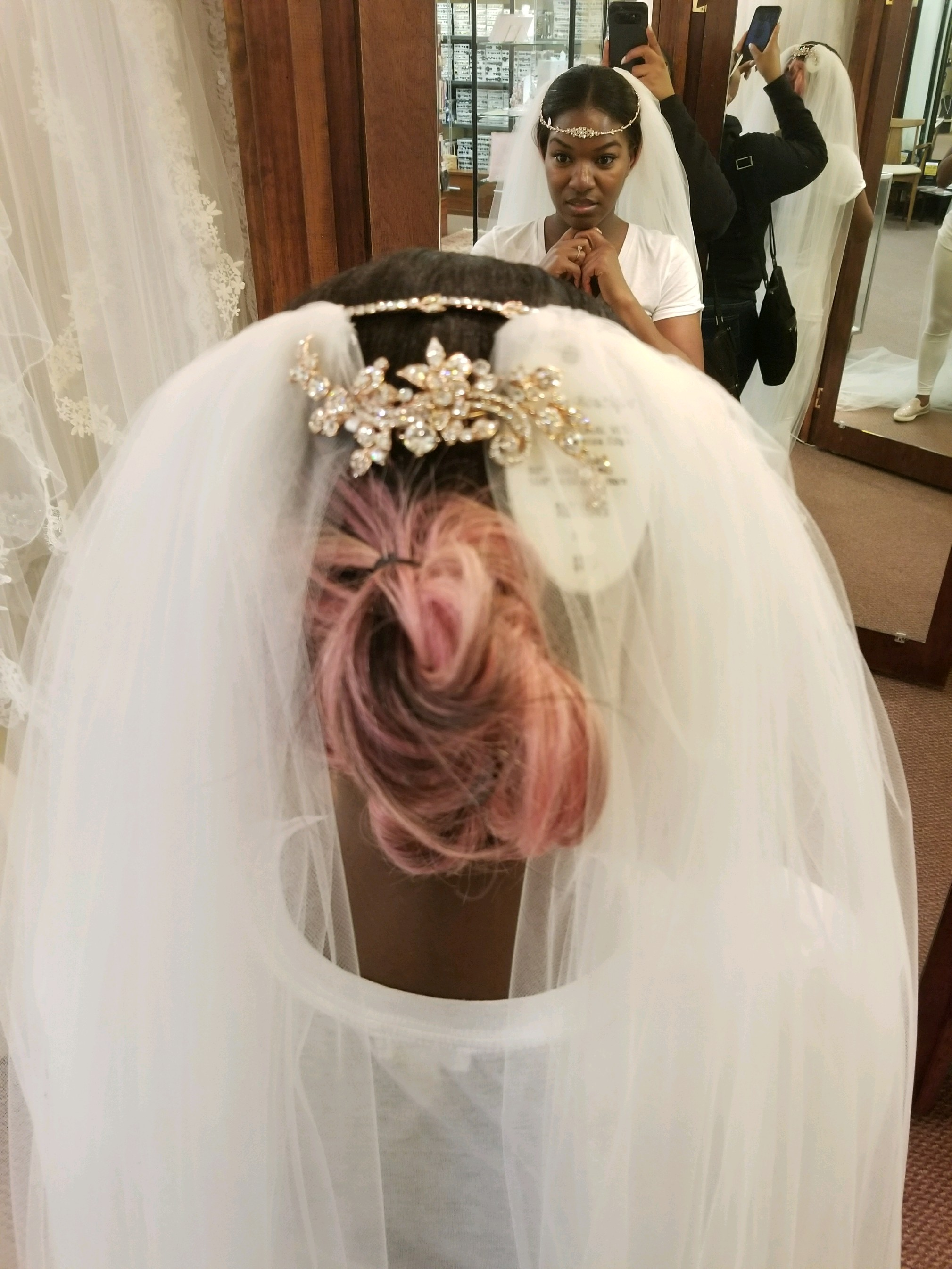 Black Destination Bride - BlackDesti Wedding Journal - Bridefriends Podcast -16 Headpiece 2 veils yes 5.JPG
