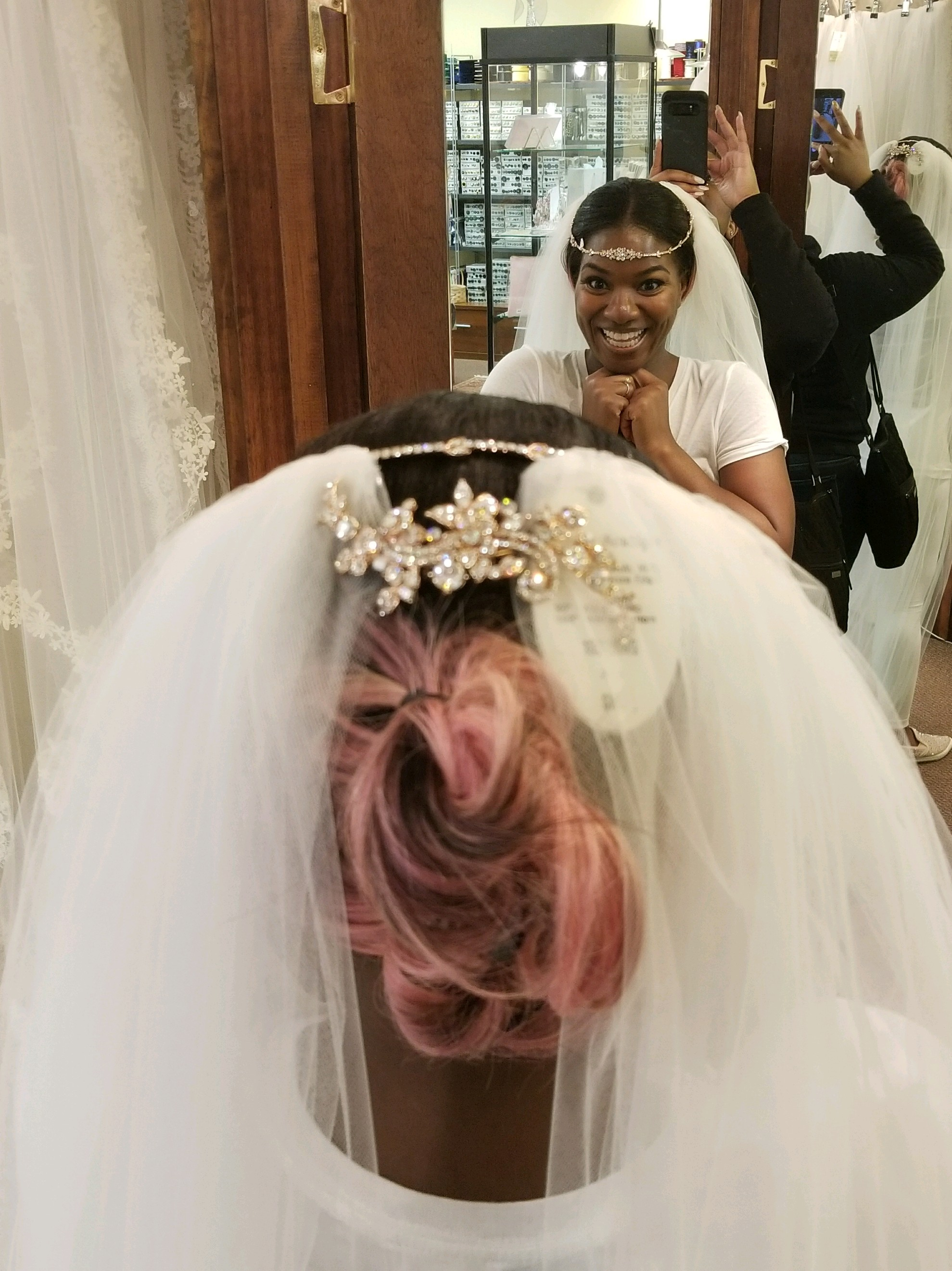Black Destination Bride - BlackDesti Wedding Journal - Bridefriends Podcast -16 Headpiece 2 veils yes 6.JPG