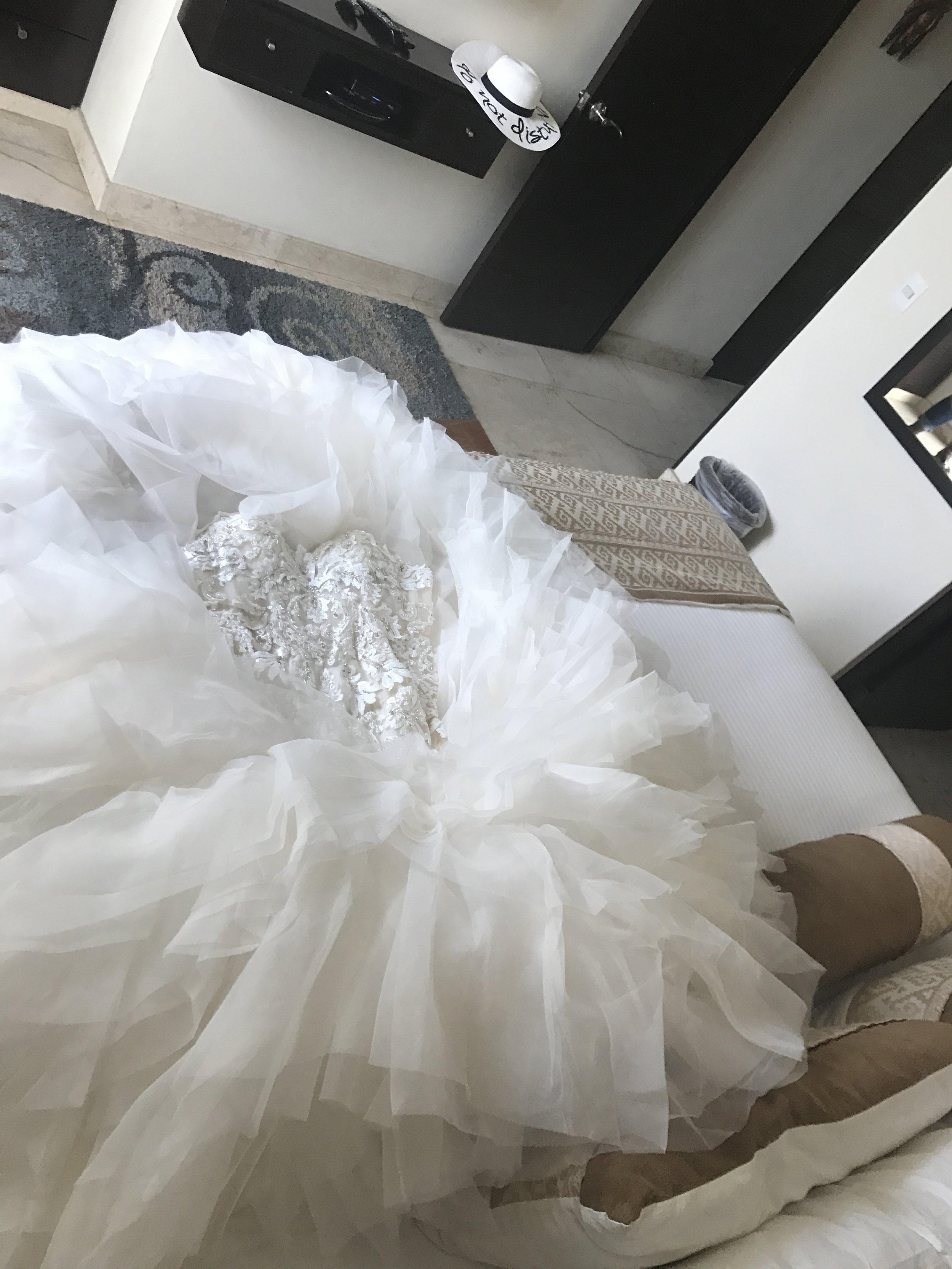 Black Destination Bride - BlackDesti Wedding Countdown Journal - Bridefriends Podcast - 1 Playa del Carmen Mexico - El Taj Bridal Suite Wedding Dress UnPacked.JPG