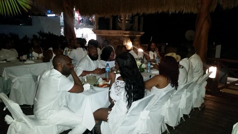 Black Destination Bride - BlackDesti Wedding Countdown Journal - Bridefriends Podcast - 1 Playa del Carmen Mexico - Carboncitos Rooftop Dinner group.jpg
