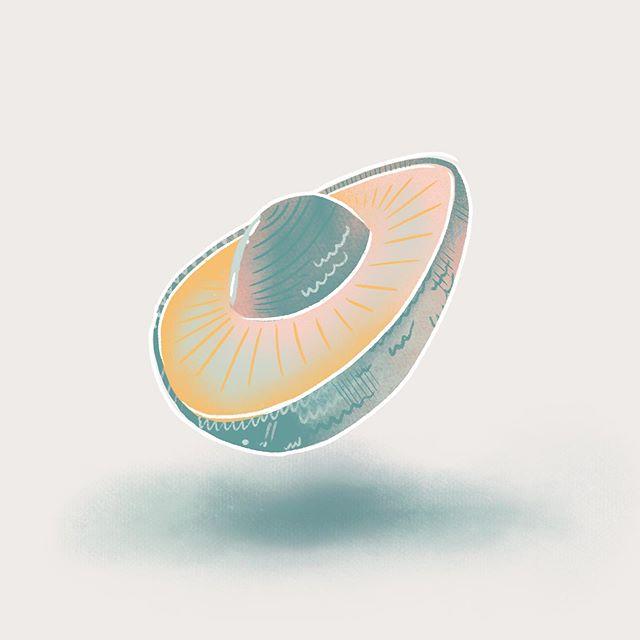 Long day = low saturation weird wavy avocado 🥑 . . . . #procreate #avocado #illustration #illustratorsoninstagram #ufo #lowsaturation #makersgonnamake