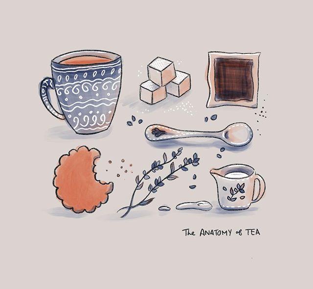 ☕️🌿 . . . . #procreate #illustration #tea