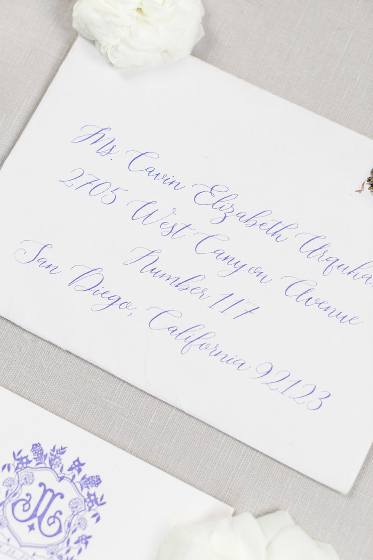 invitation & calligraphy: Mellobets; image: Cavin Elizabeth Photography