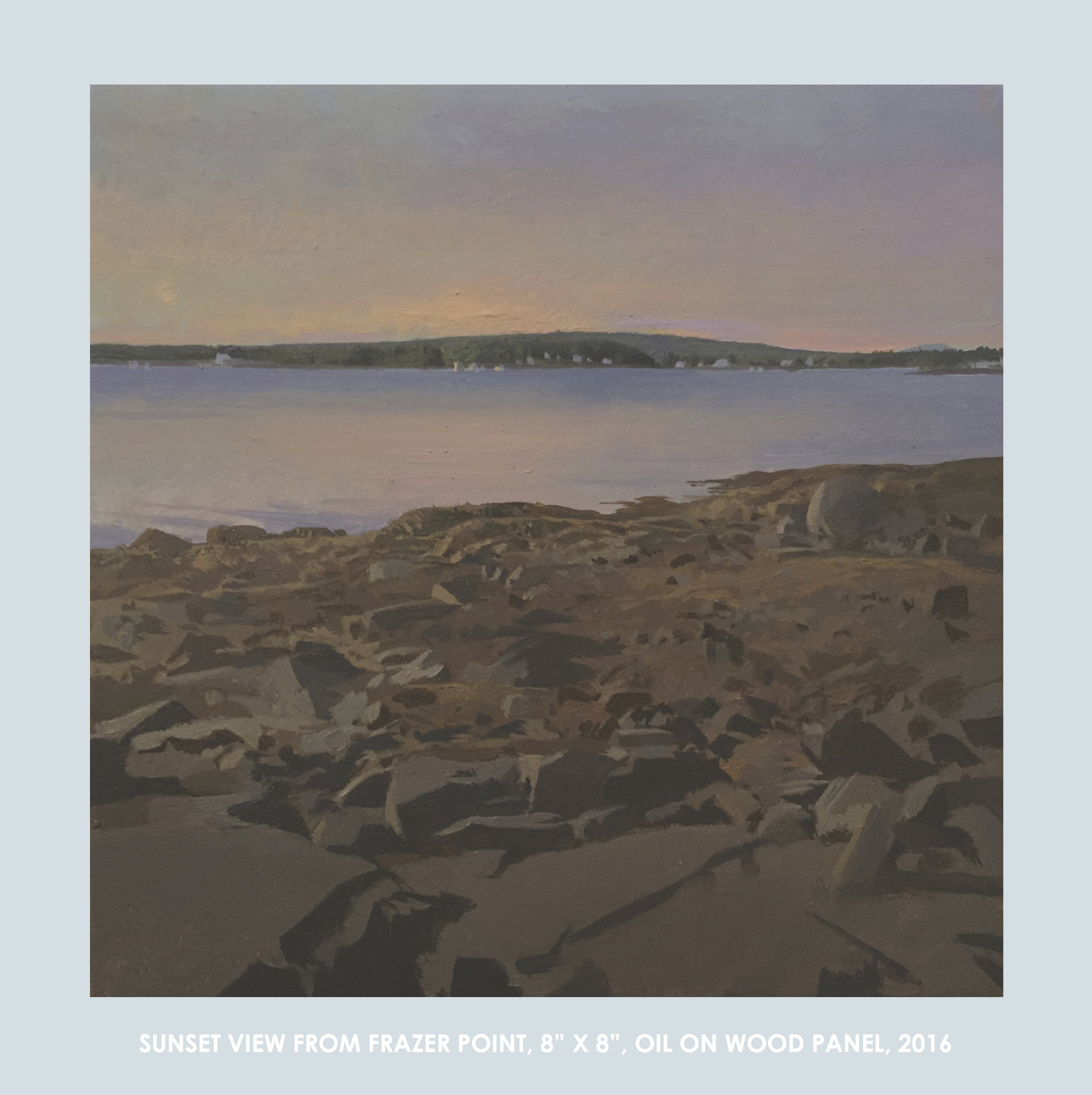 Sunset View from Frazer Point, 8x8%22, Oil on Wood Panel, 2016-Christopher S. Tietjen.jpeg
