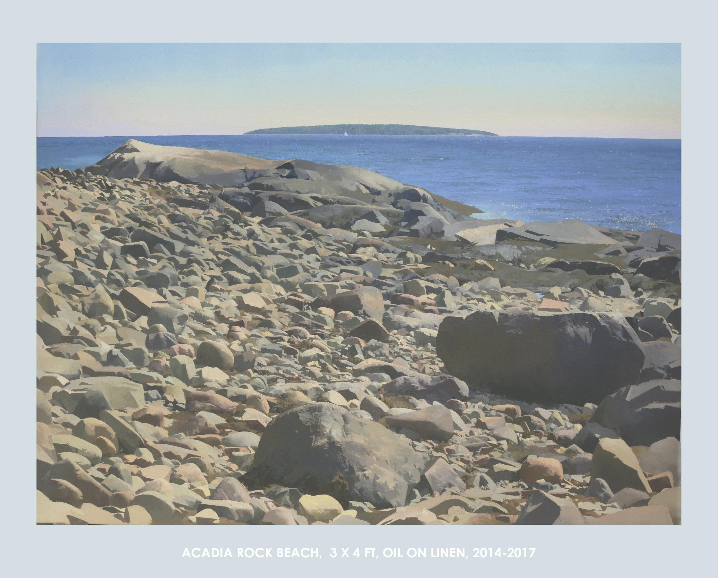 Acadia Rock Beach, 3x4 FT, Oil on Linen, 2014-2017 - Christopher S. Tietjen.jpg