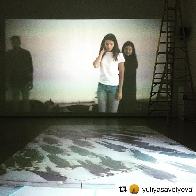 #Repost @yuliyasavelyeva ・・・ Finishing up final touches at the gallery. It opens tomorrow at noon 😊 #proximities with @lindseydieter @boldathmac @amy.j.gardner