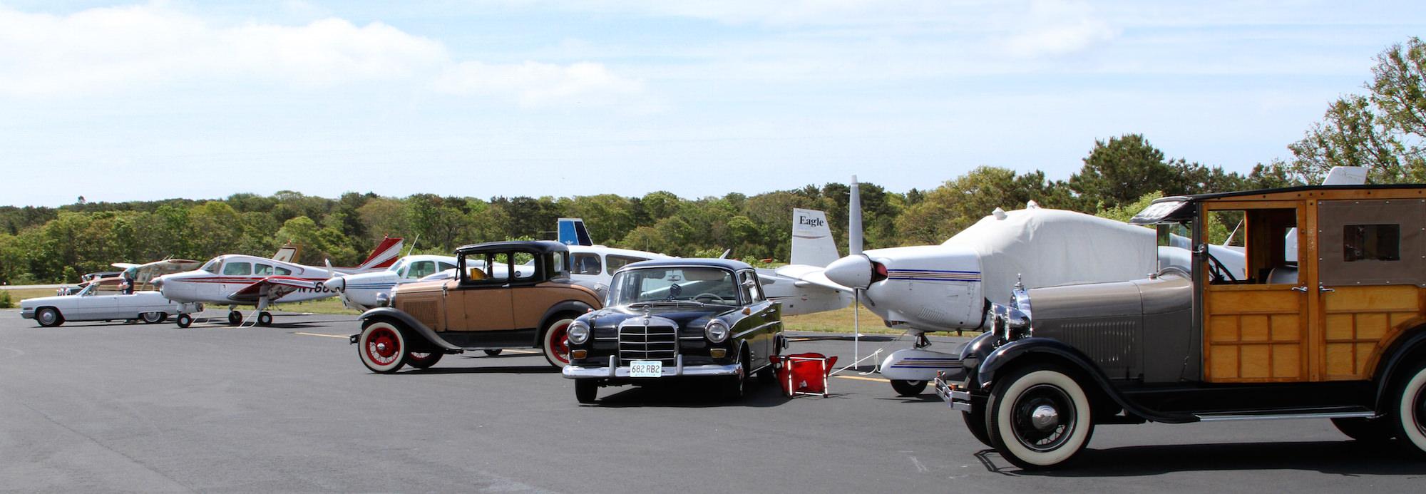 Antique car and plane show