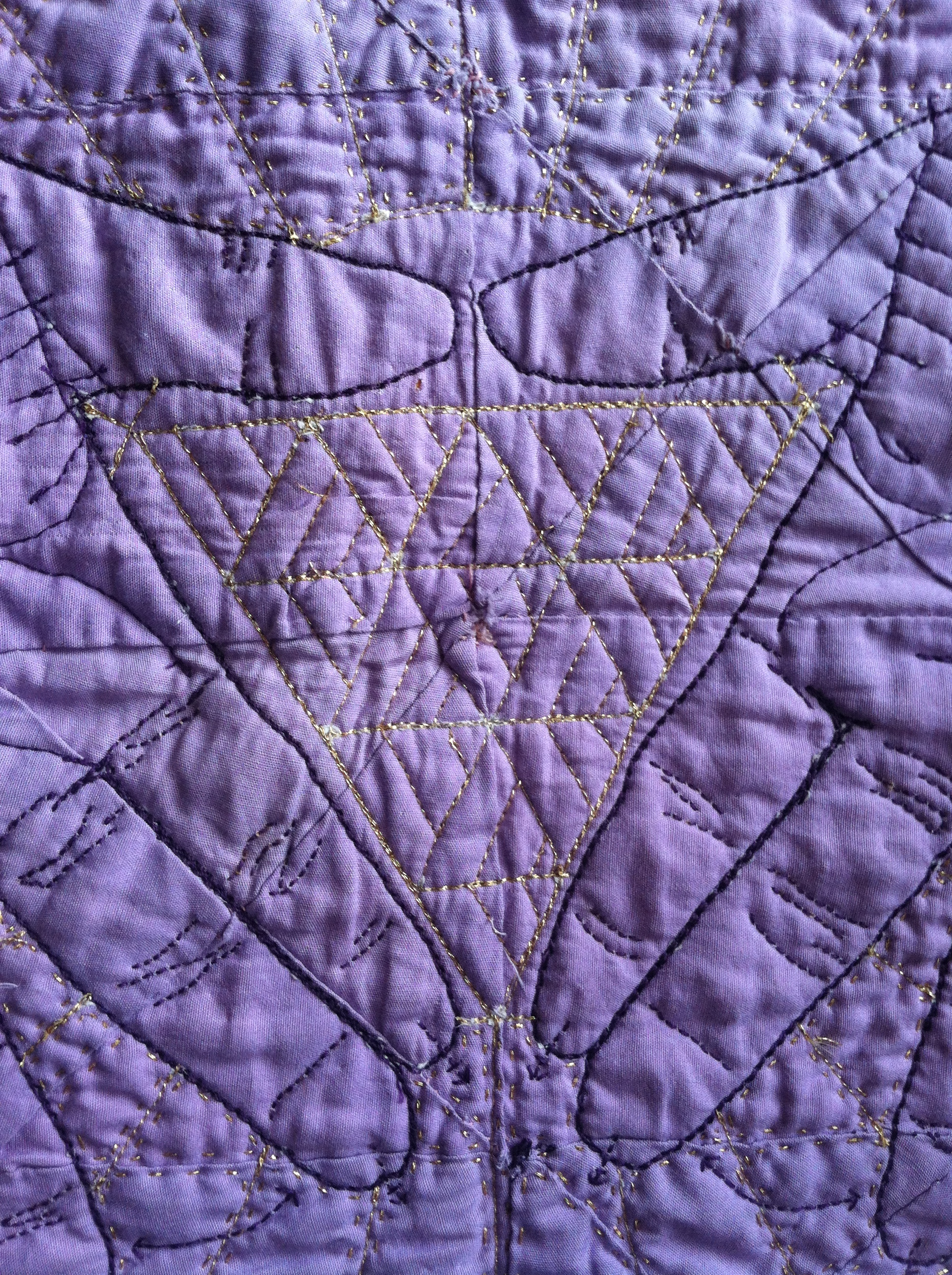 Quilted Lavender Hanky #2