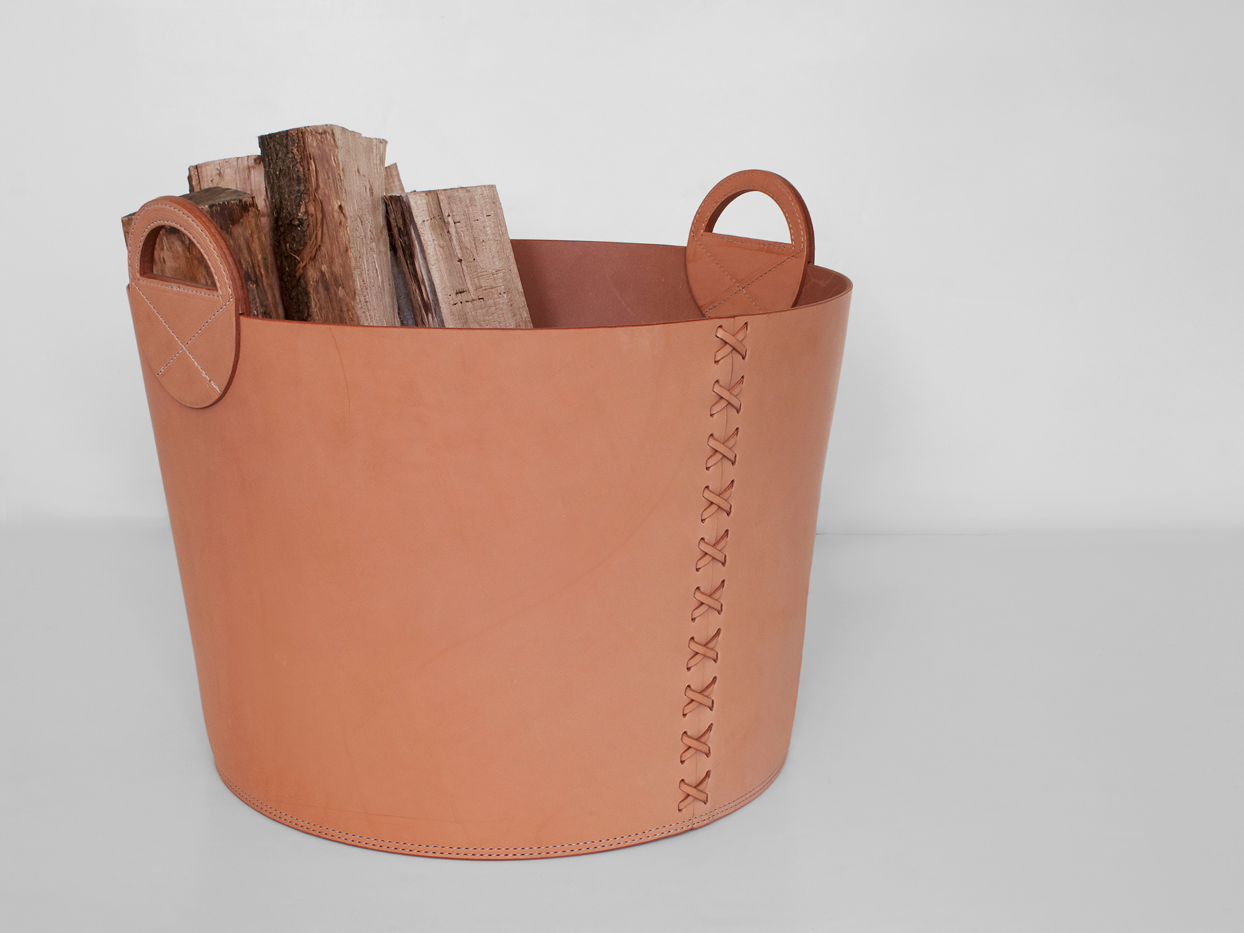 Leather Bushel Basket