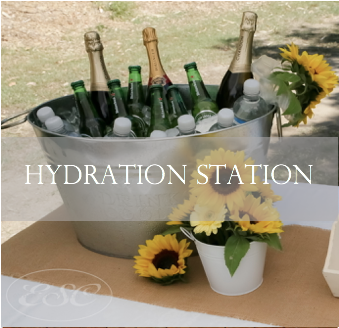 Drink tables, ice tubs, drink dispensers