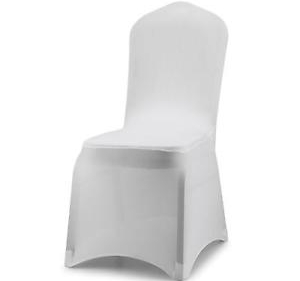 White Lycra Universal Chair Covers   $3 each