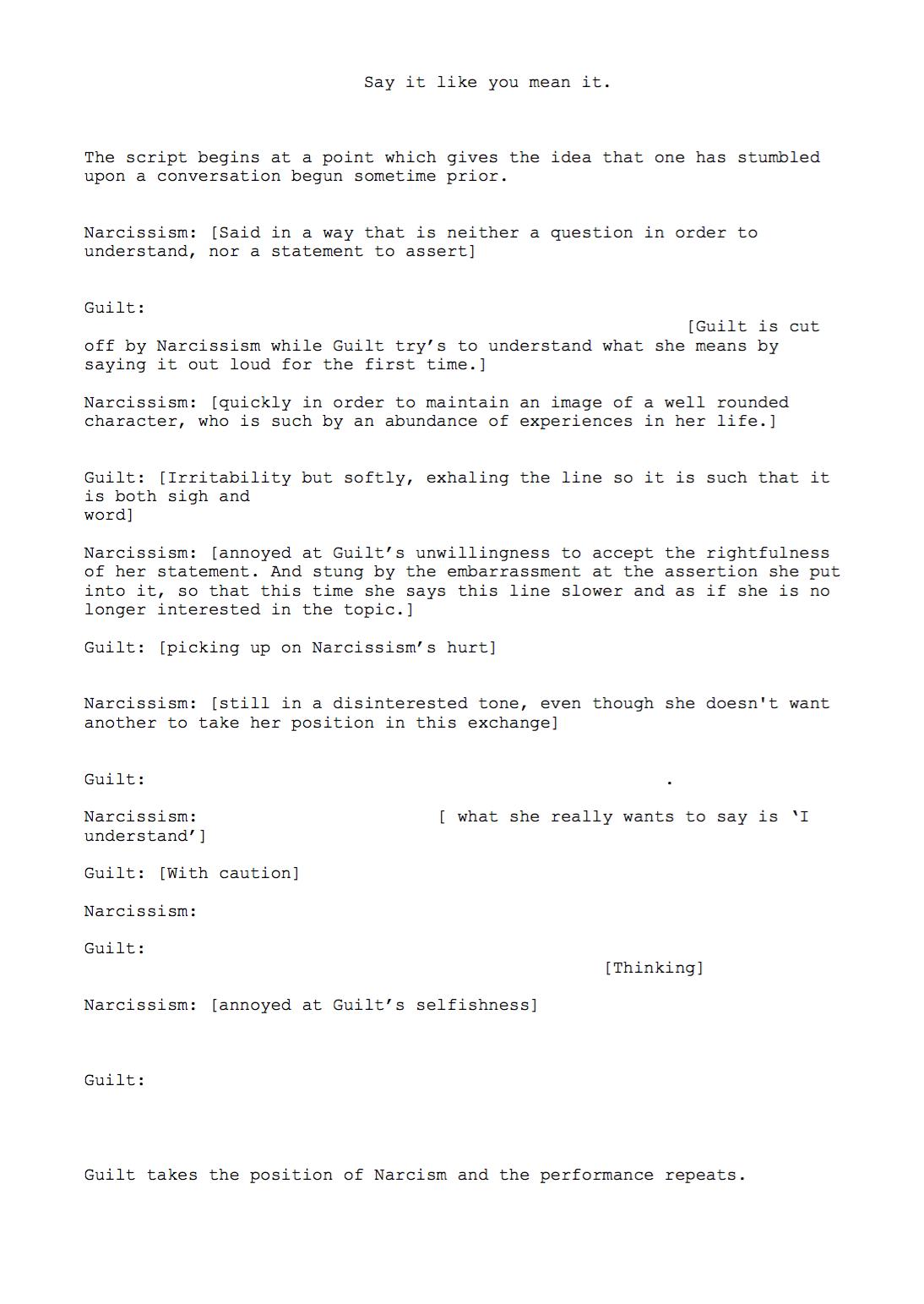 Script accompanying video work.