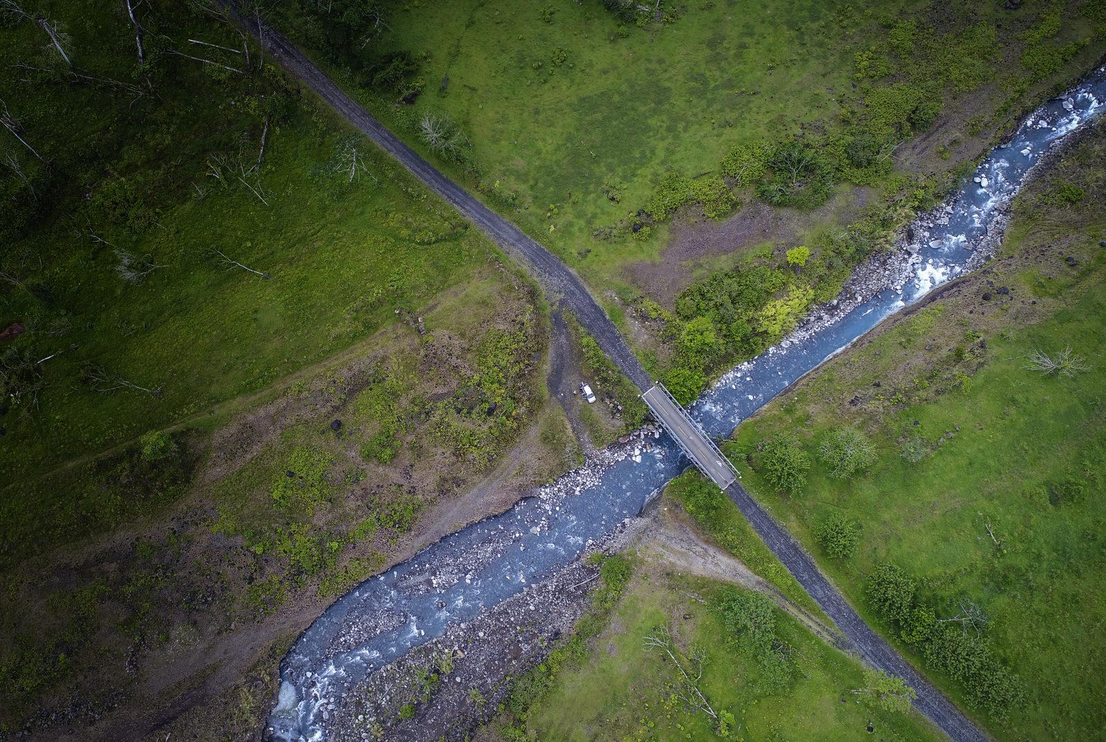 Vista aérea de inicio de caminata