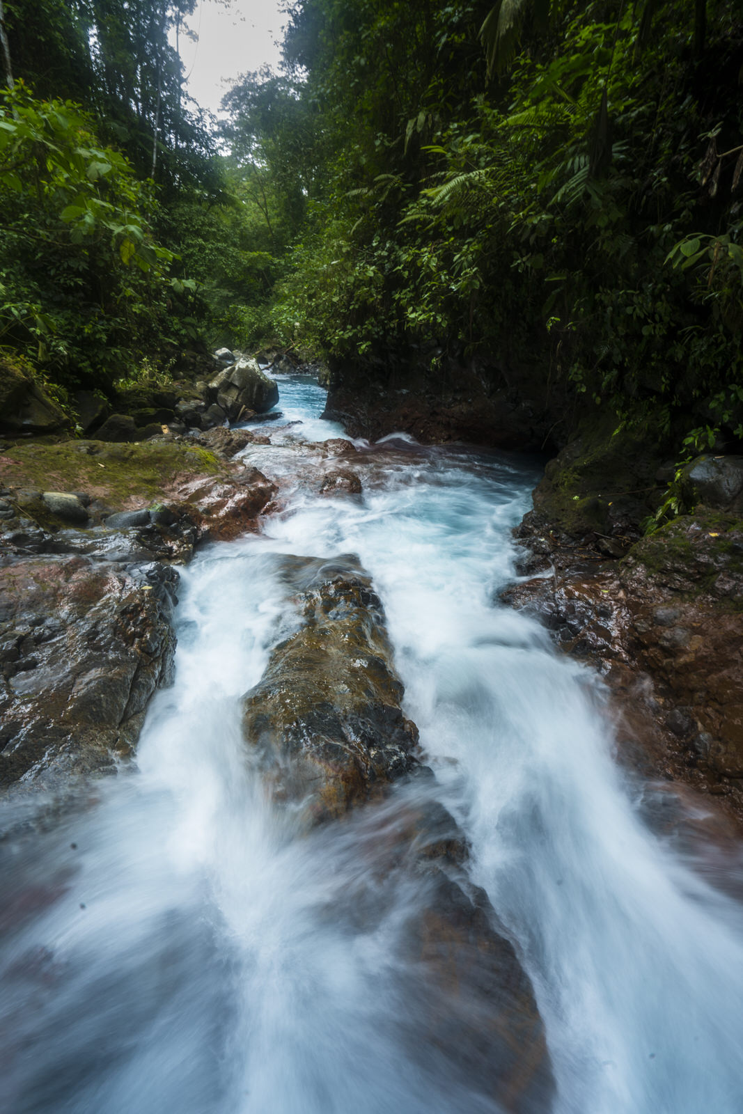 río en la tarde