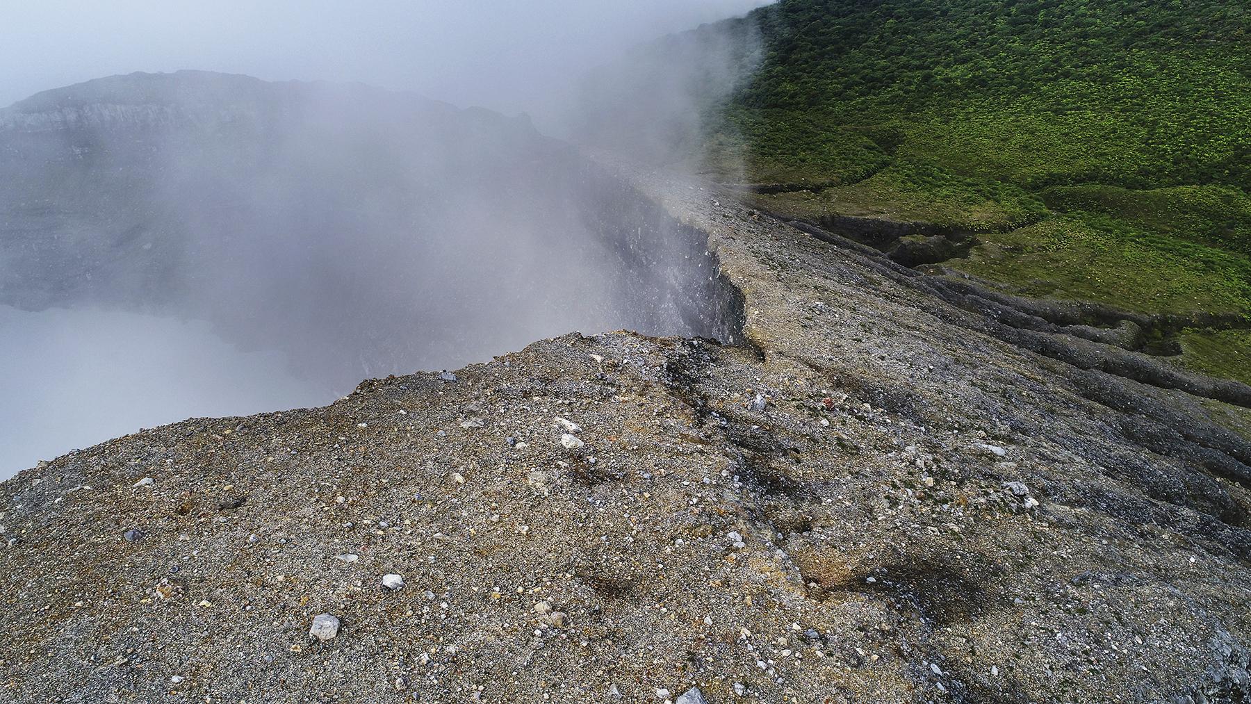 Vista Aerea del crater del Volcán Rincón de la Vieja