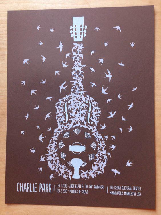 Charlie Parr Barnswallow Poster