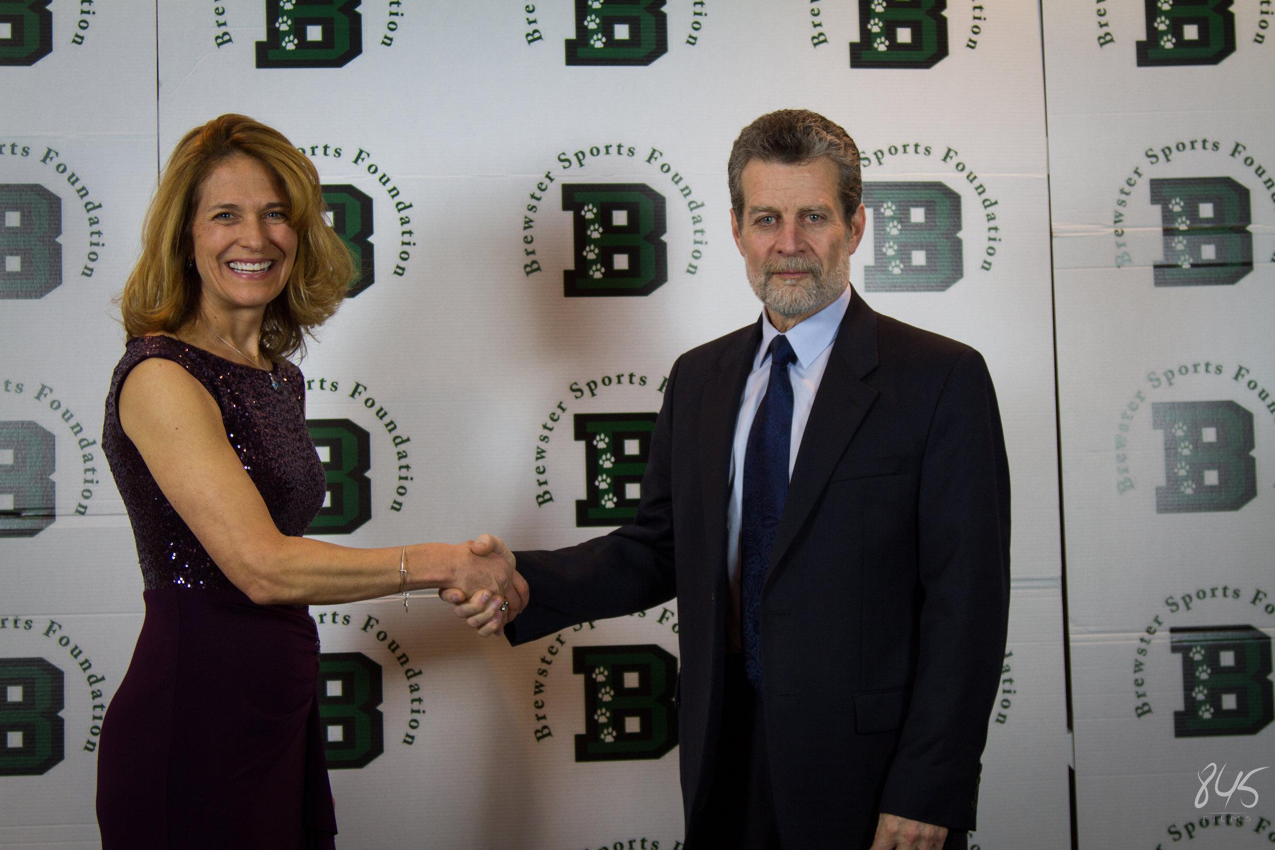 Robin Greene, President, with Dr. Jambor