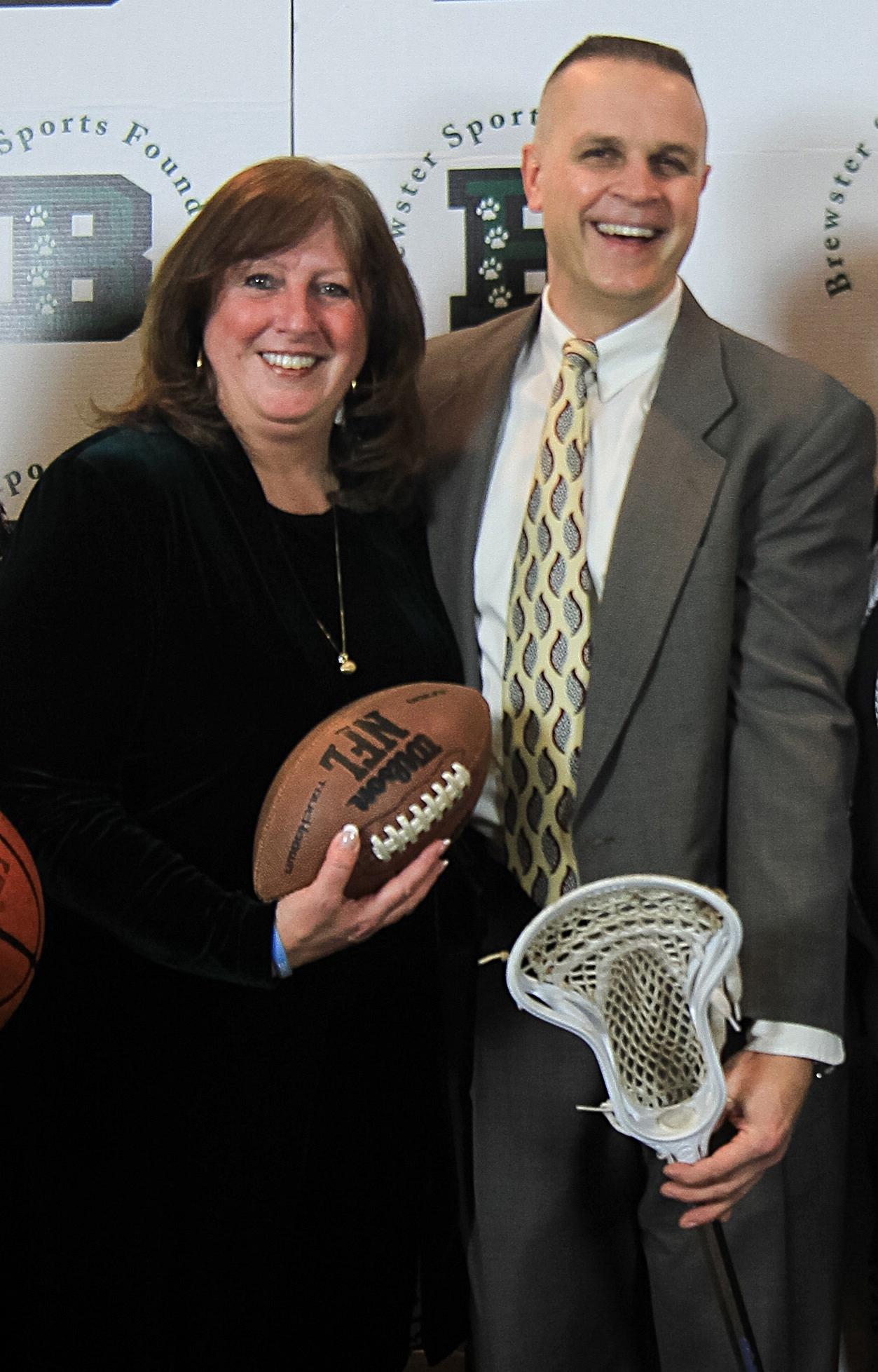 Lisa McPartland, Vice President, with Mr. Berardo