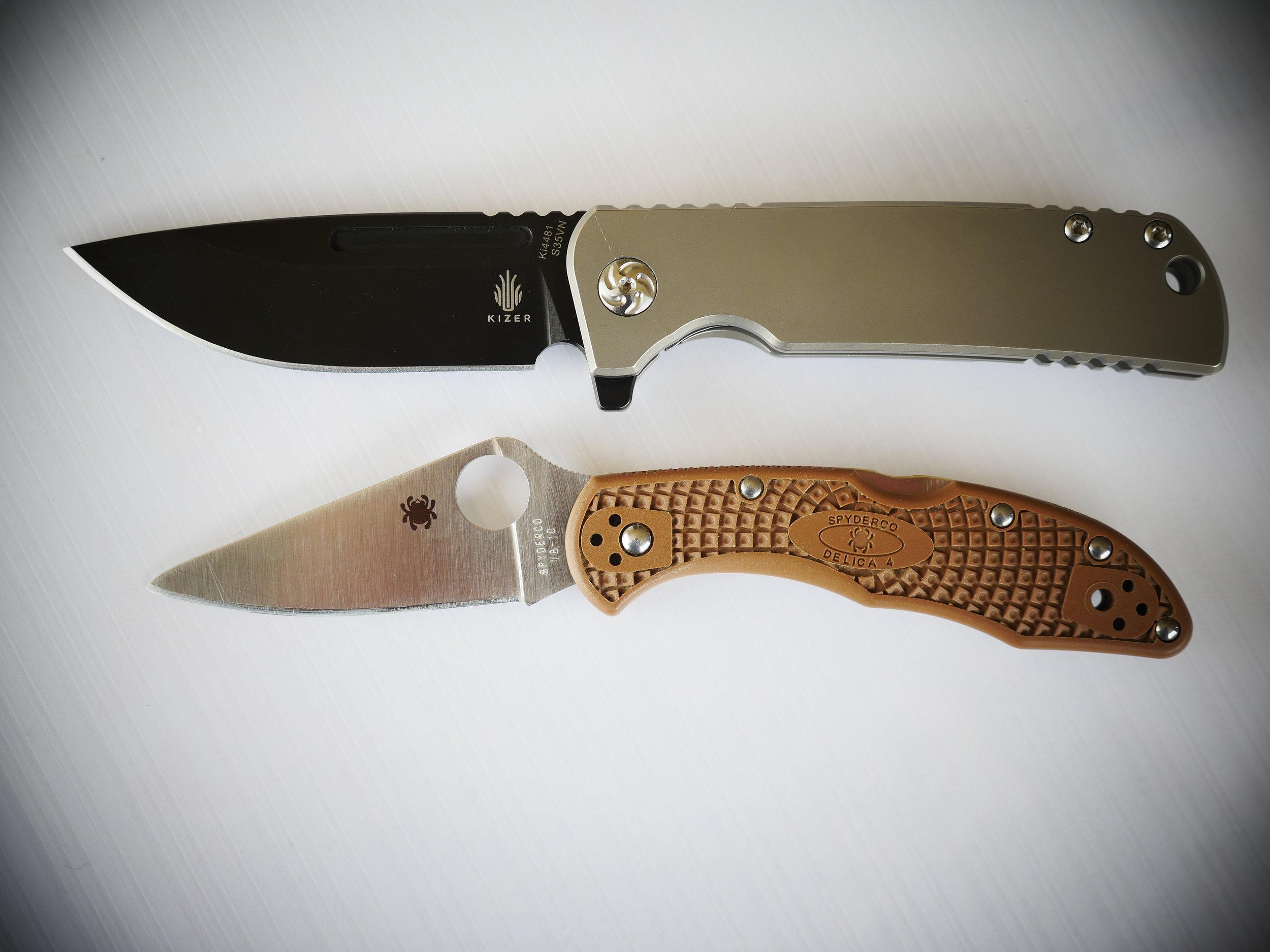 Kizer Escort Size Comparison 1