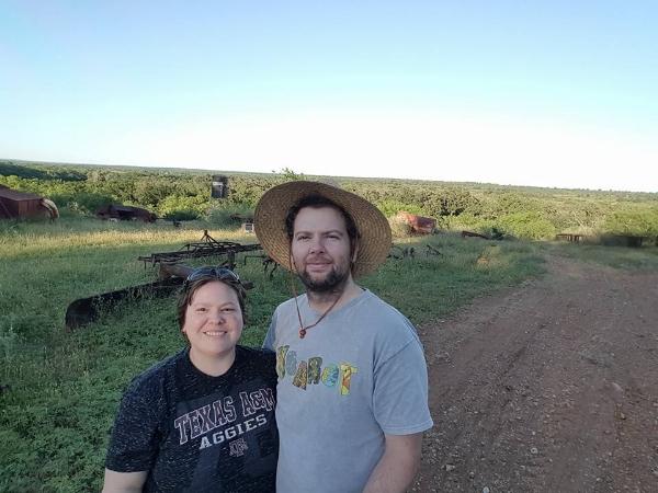 John and Cindy on the family farm!