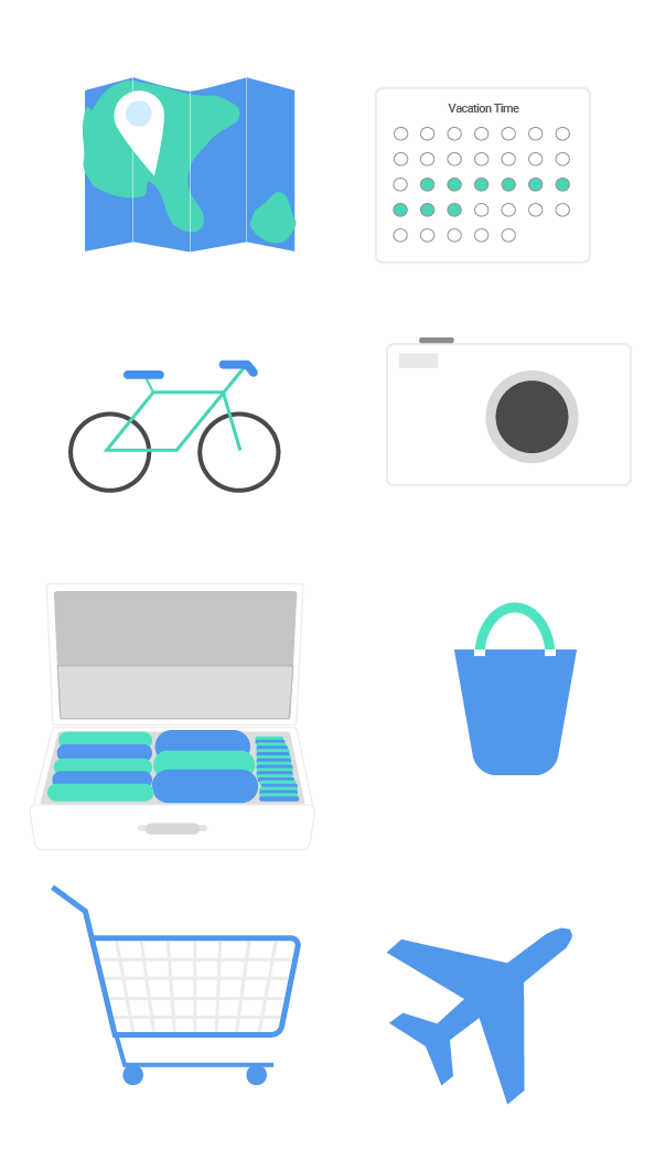 These were all the custom Icons I made for my packprep marketing page