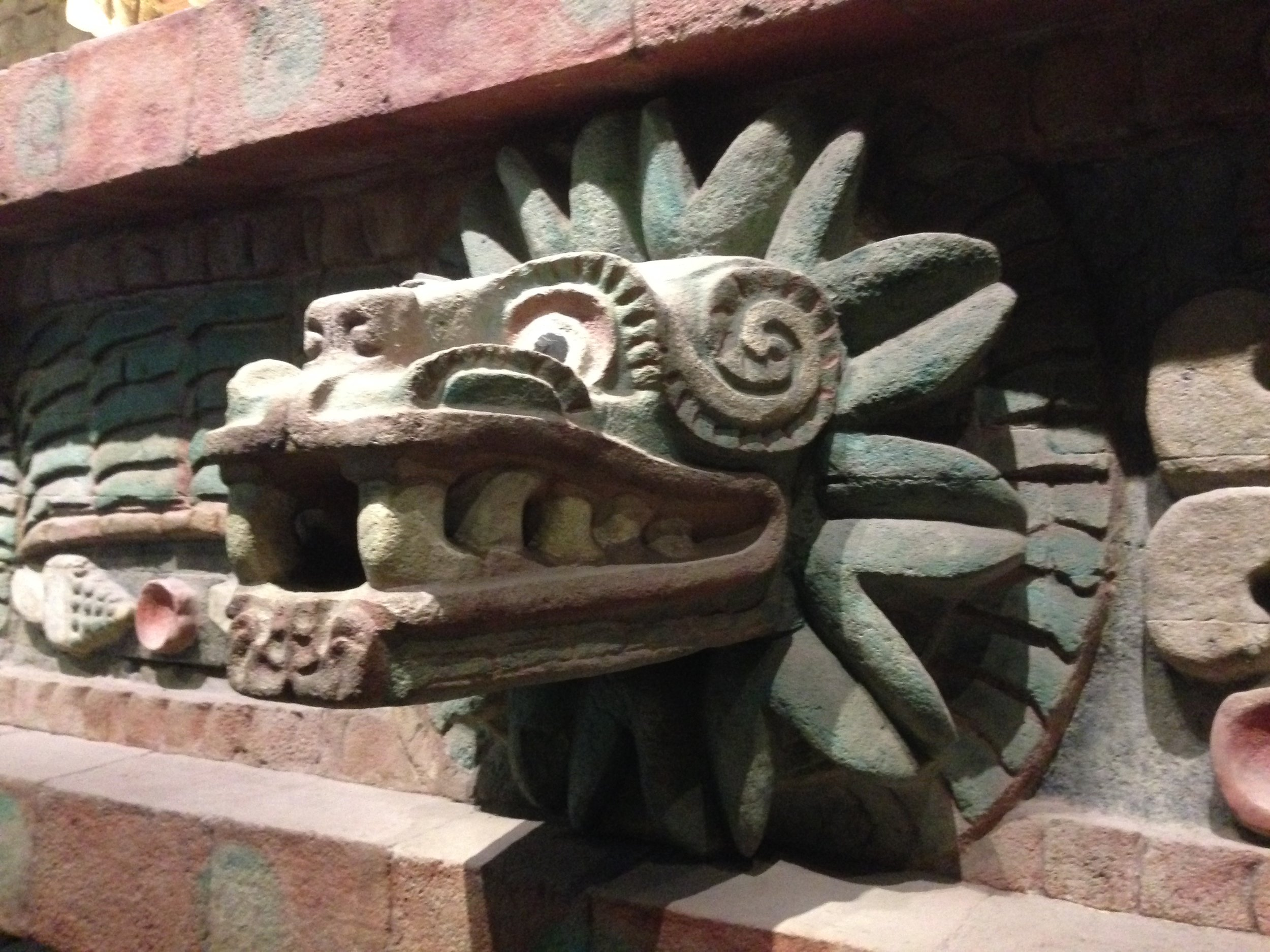 Exhibited at the Museum of Anthropology, Mexico City
