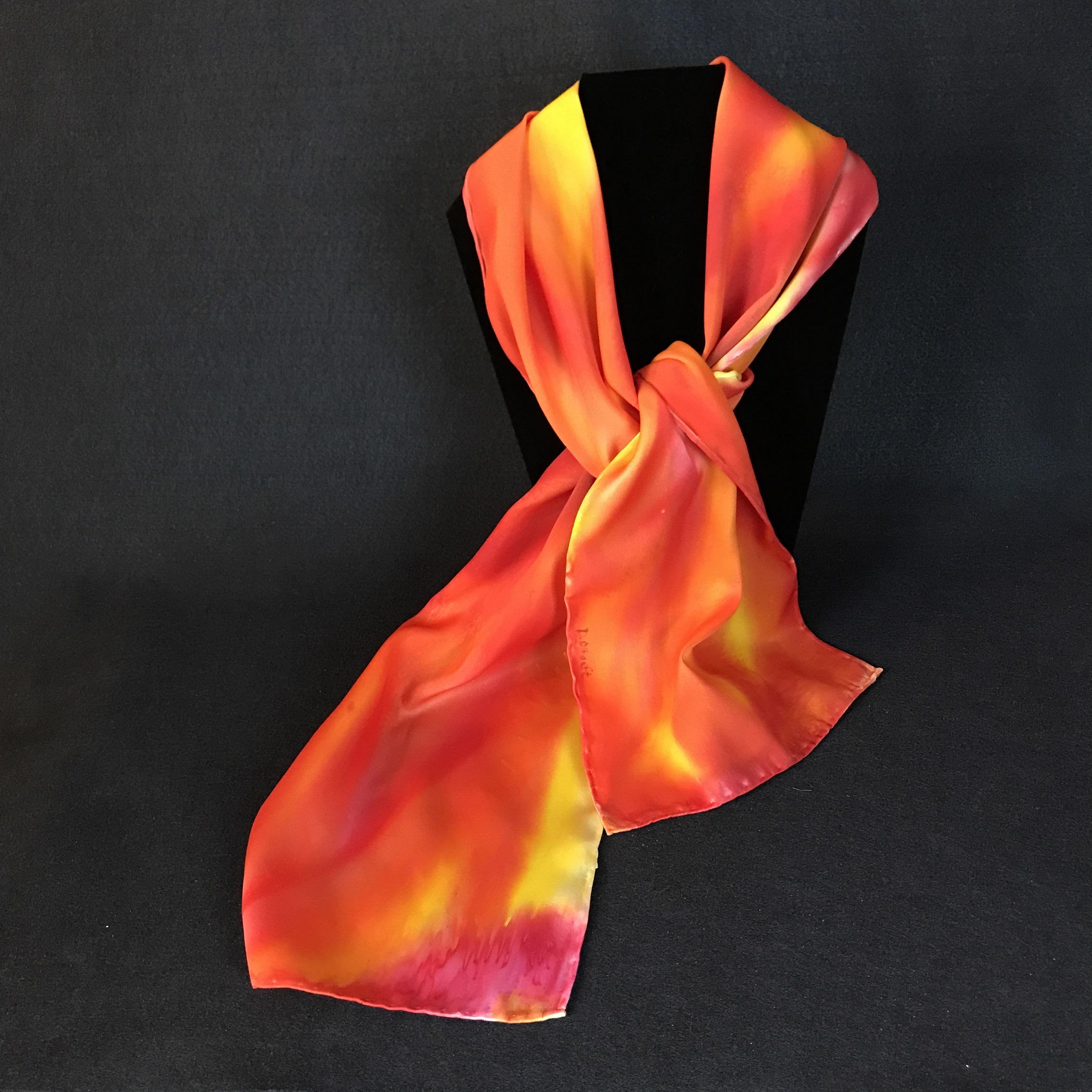 Oranges   - Silk Scarf