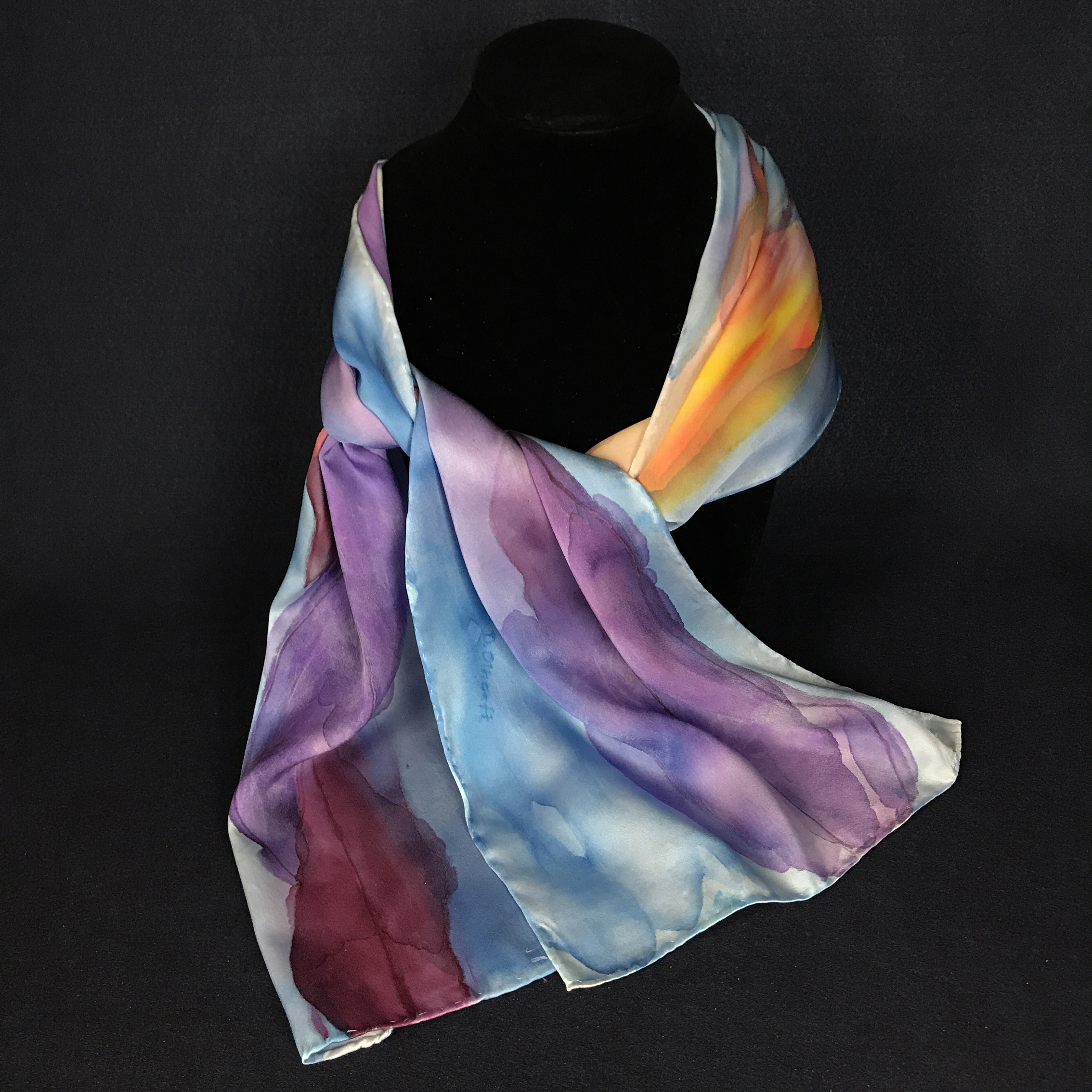 Reflections   - Silk Scarf