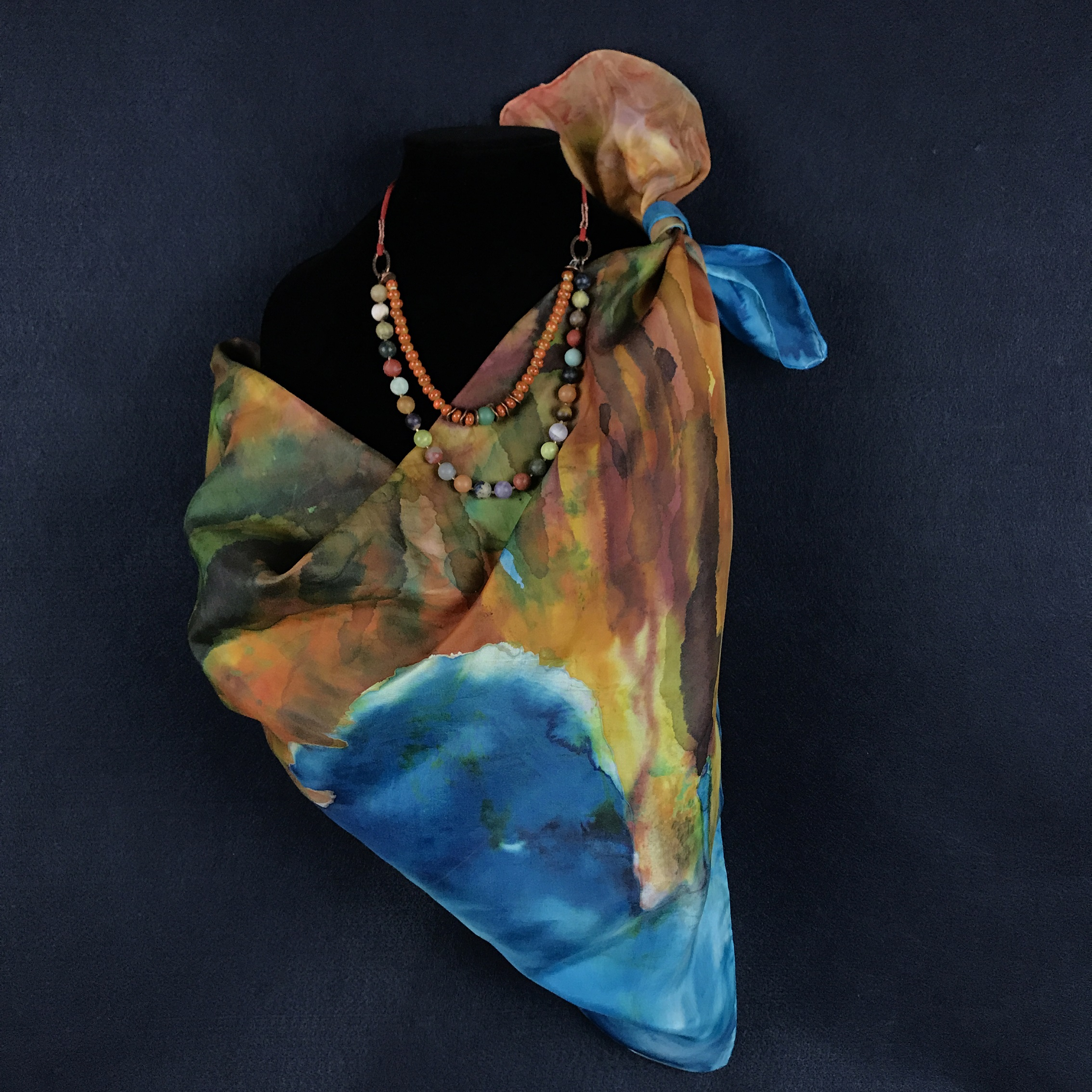 Cathedral Canyon   - Silk Scarf