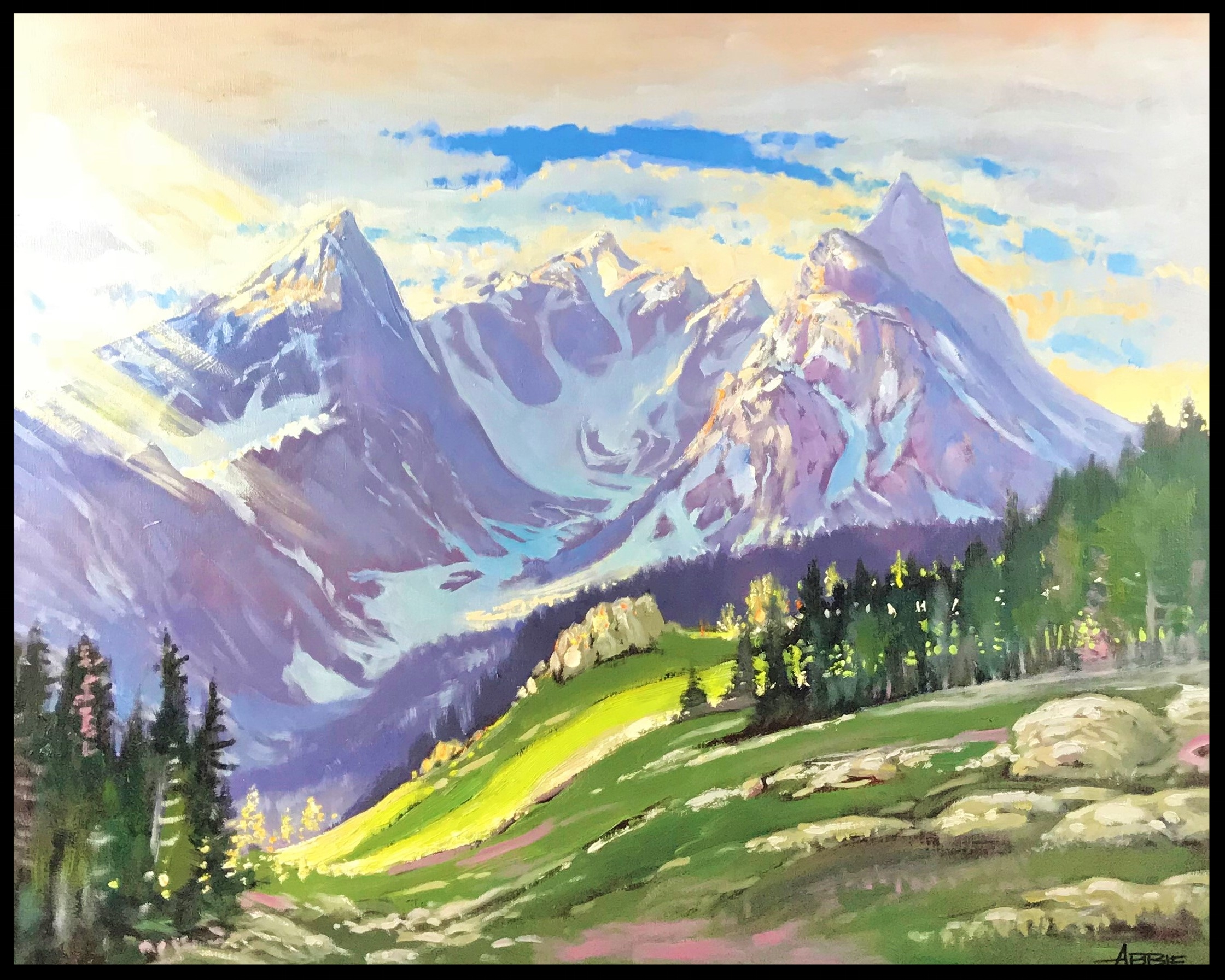 Early Light on Trapper Peaks   - Jerry Abbie