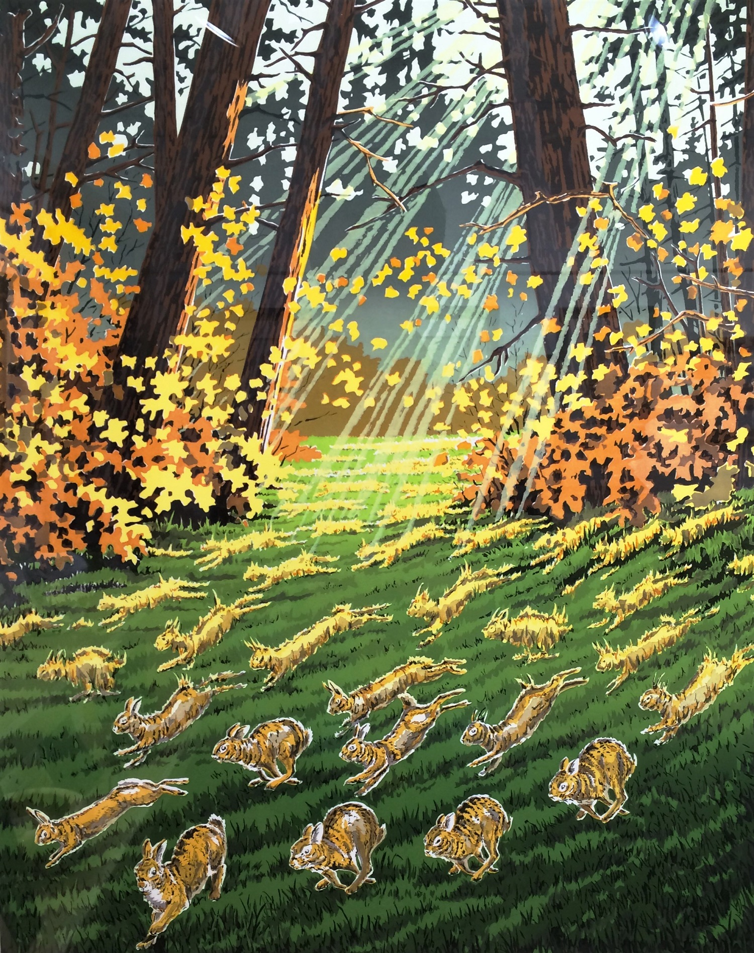 Cottontail Clearing -  Bob Kercher  14 Color Serigraph
