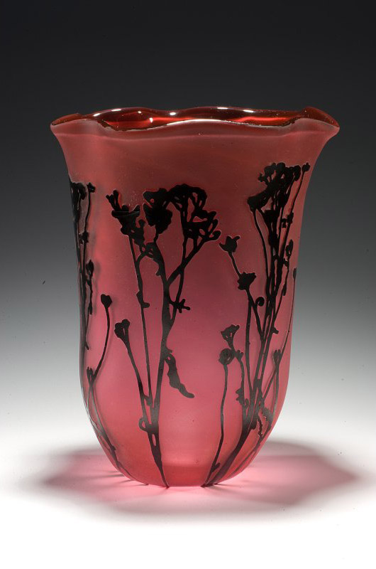 Engraved Glass Vase -  Lisa Tate