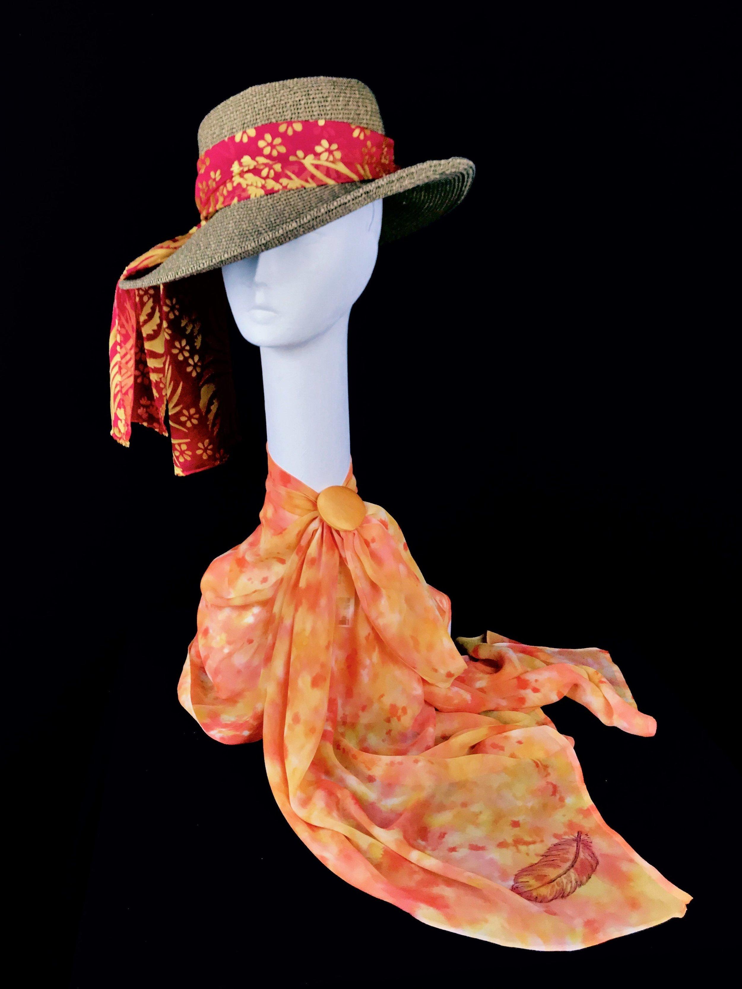 Sunrise -  Lisa Archer Silks  Silk Shoulder Caplet & Silk Scarf