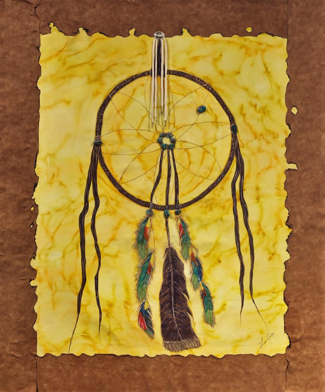 Dream Catcher For Mother -  Lisa Archer Silks  Silk Painting