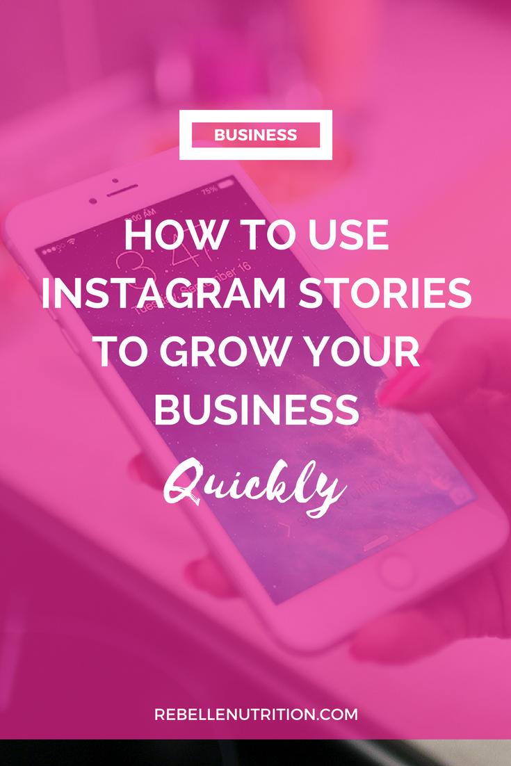 How to use instagram stories to grow your business quickly