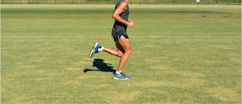 Note the increased dorsiflexion range upon midstance loading of the right leg.