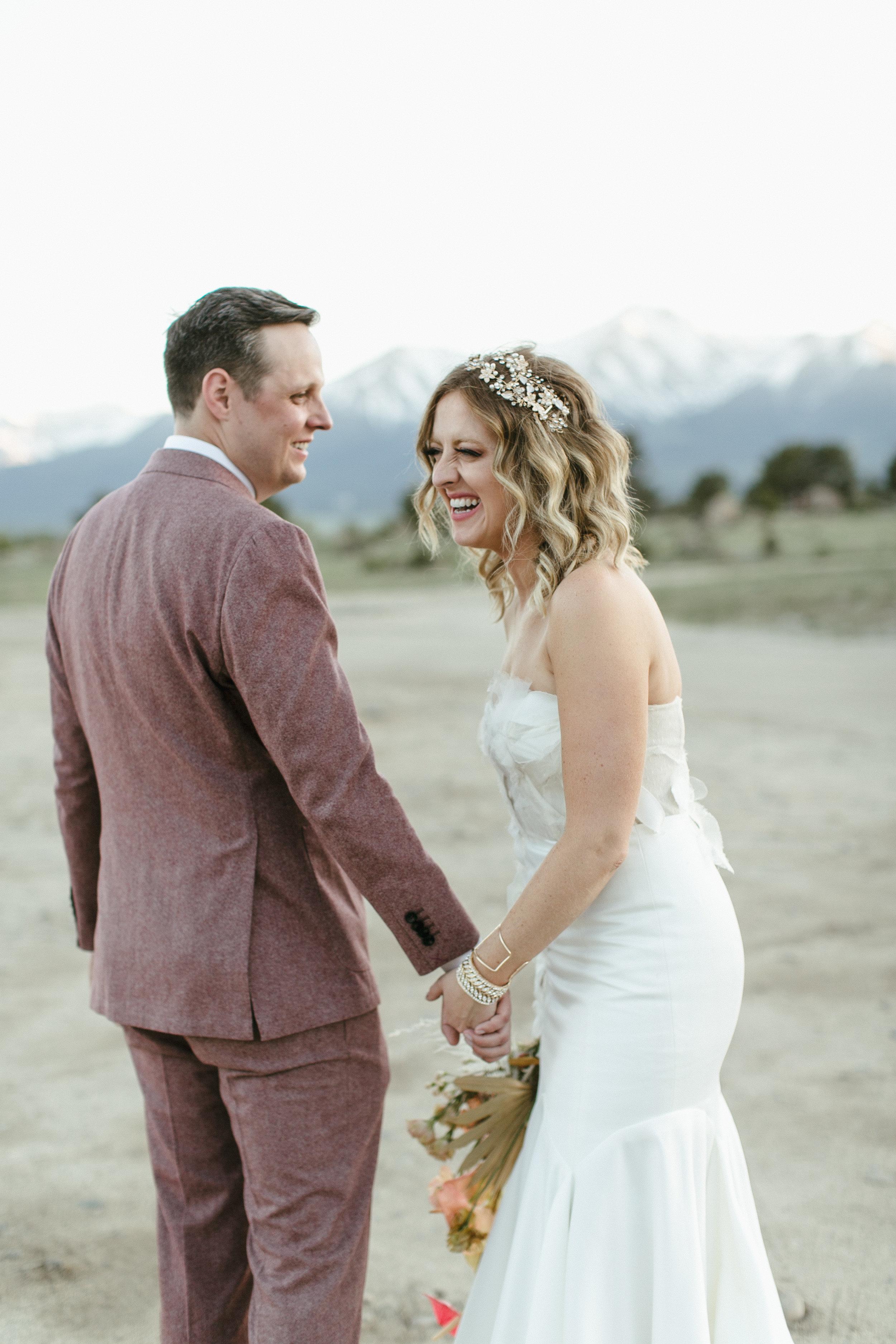 Trendy Mountain Wedding in Buena Vista, Colorado