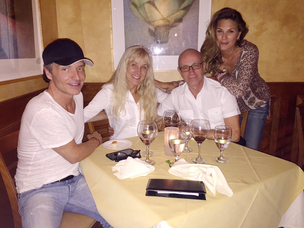 Richard Marx, Janey, Bruce, and Daisy Fuentes in CA