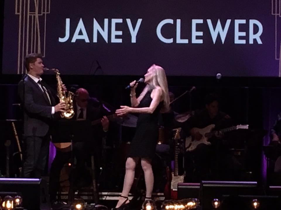 Janey with Michael Lington
