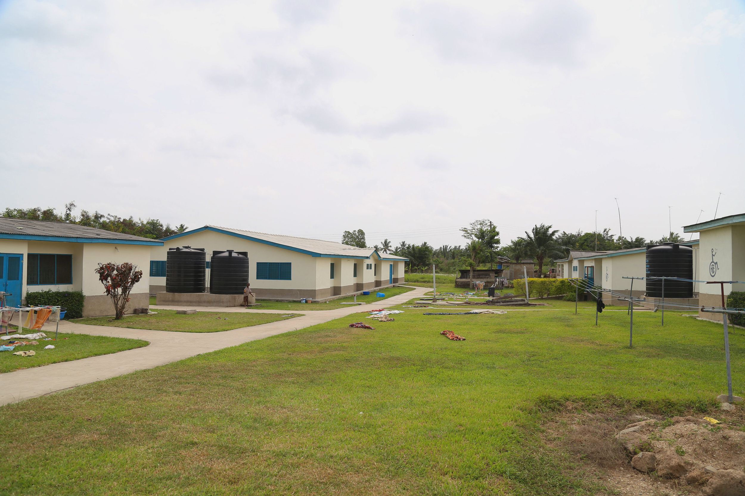 Our dormitory and vocational skills building.
