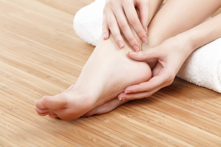 Heel Pain      The heel bone is the largest of the 26 bones in the human foot, which also has 33 joints and a network of more than 100 tendons, muscles, and ligaments. Like all bones, it is subject to outside influences that can affect its integrity and its ability to keep us on our feet. Heel pain, sometimes disabling, can occur in the front, back, or bottom of the heel.