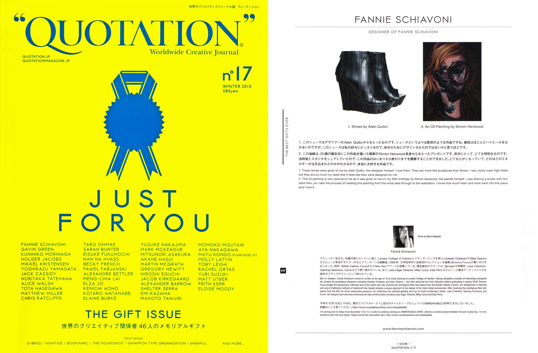 quotation magazine fannie schiavoni winter 2013.jpg
