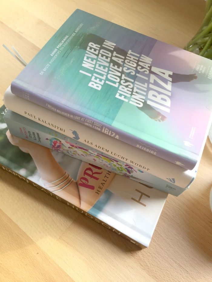 Jules and Louis Blog - Unwinding With Books - stack of books