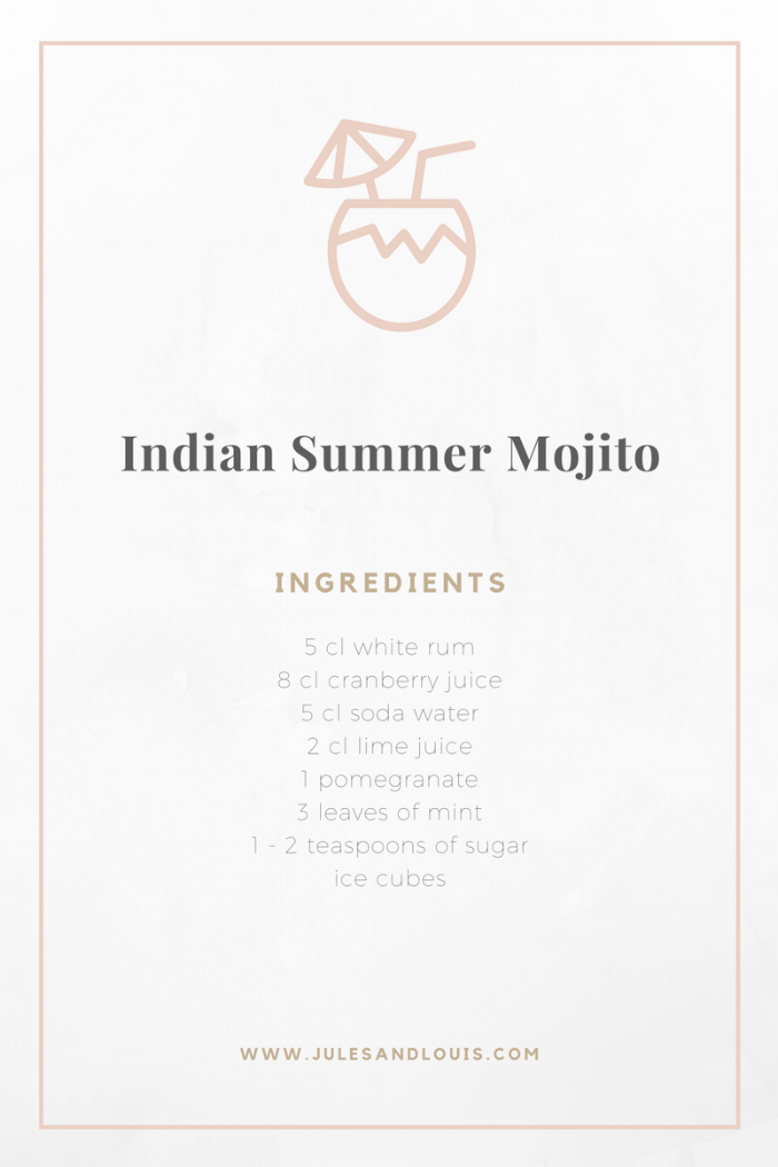 Jules and Louis Blog - Recipe Indian Summer Mojito