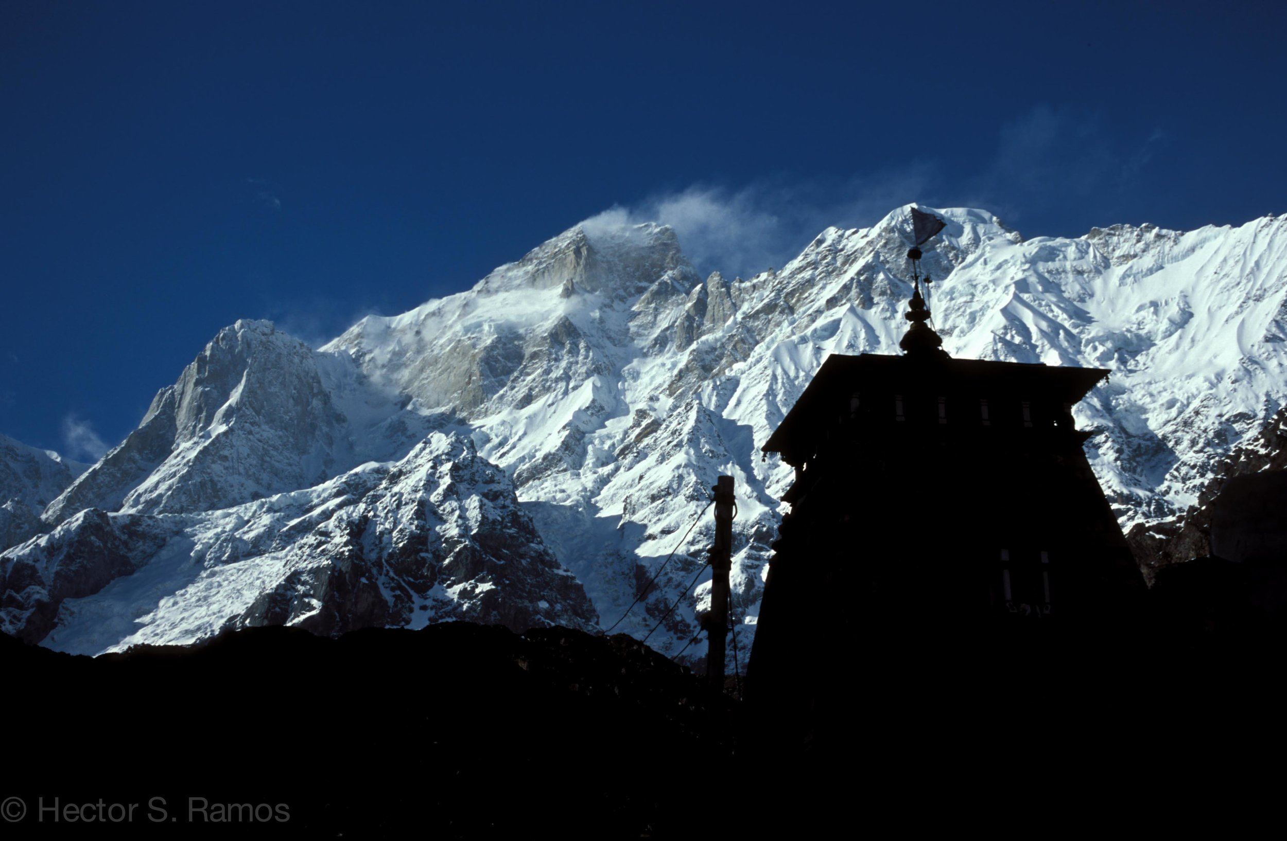Kedarnath Shrine.  After a seven-hour trek we were rewarded with a magnificent view.  Photo: Leica MP, 50mm Summilux, Velvia 50.