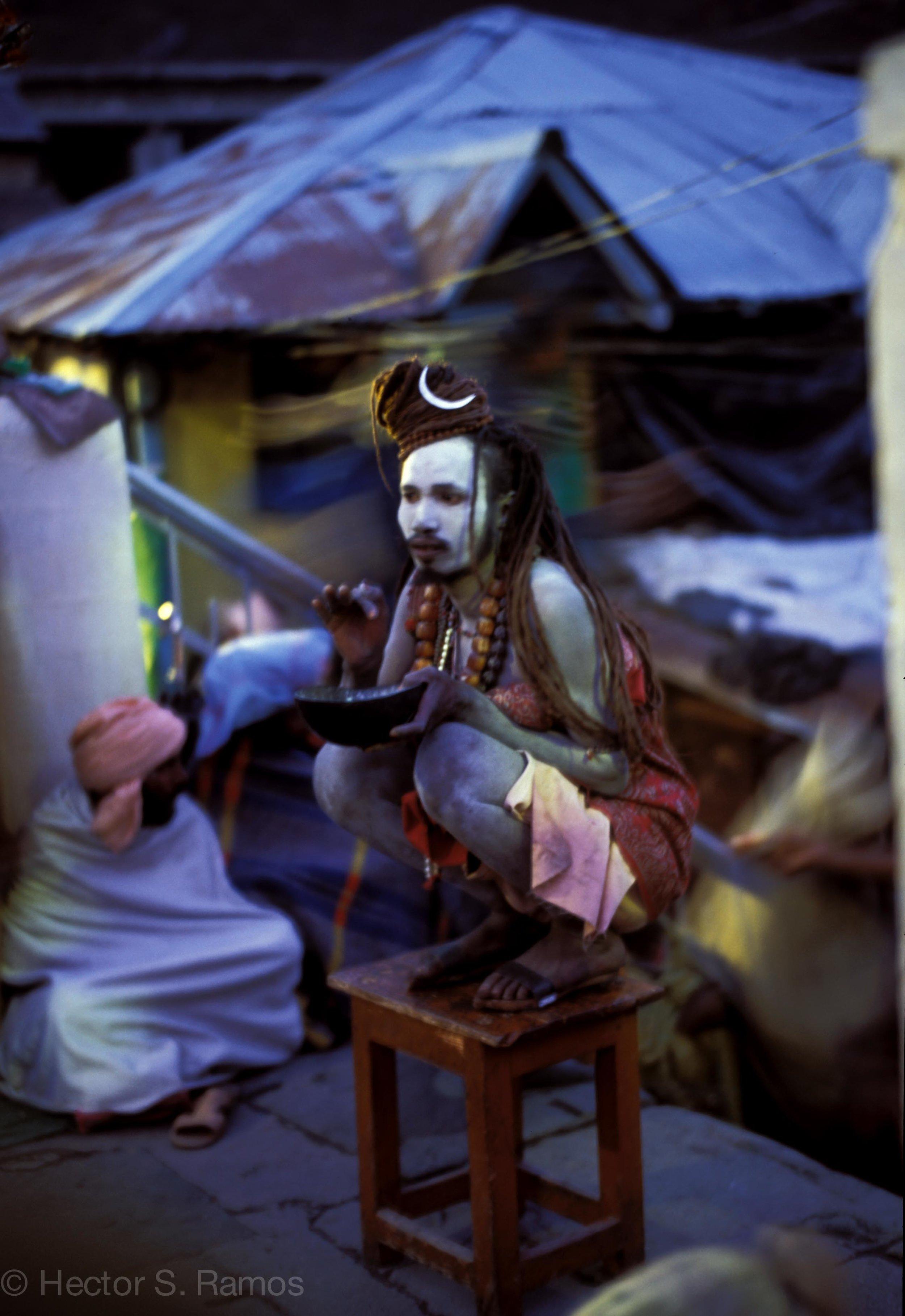 Sadhu. Kedarnath. Leica MP, 50mm Summilux, Velvia 50.