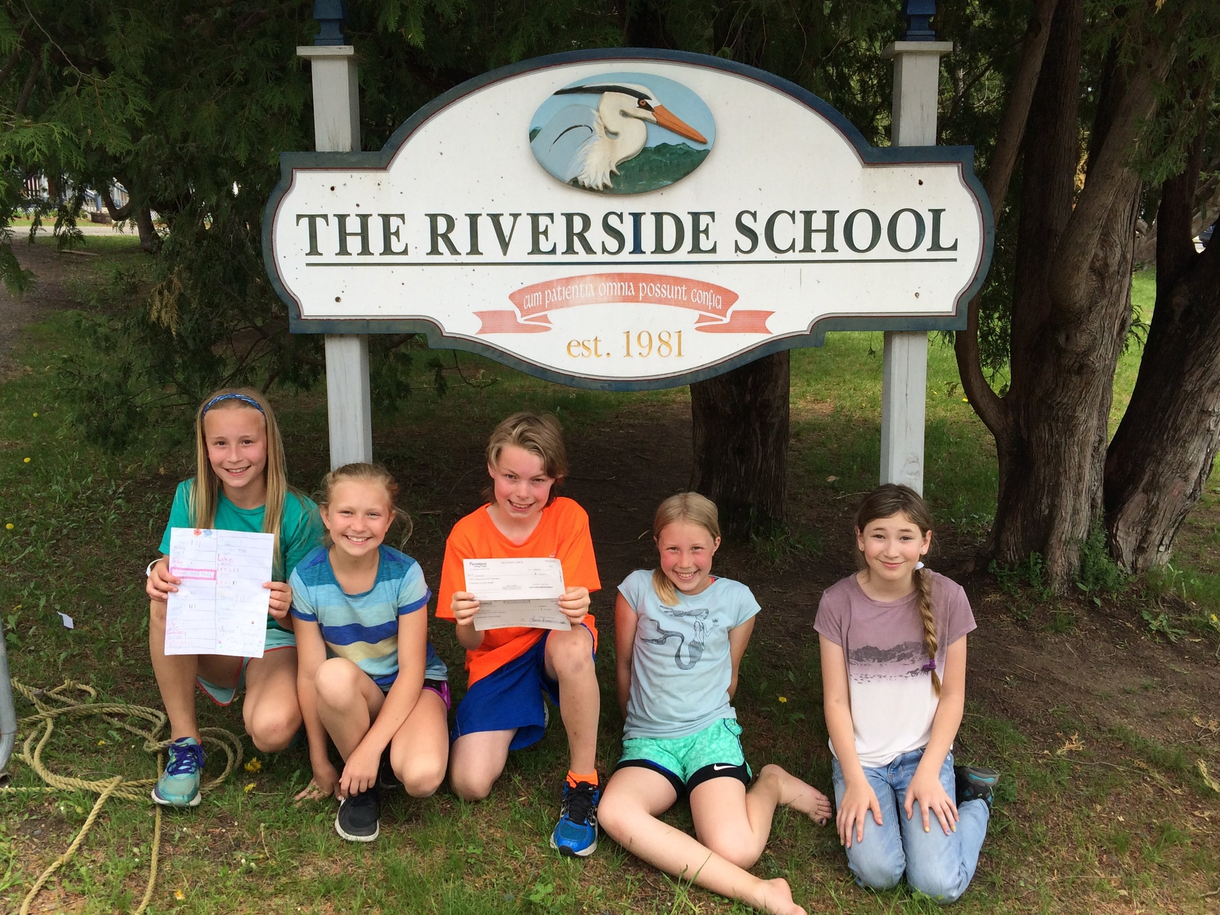 From left to right: Maren Giese, Ruby Rolfe, Colter Thibaudeau, Riley Miller, Tegan Harlow