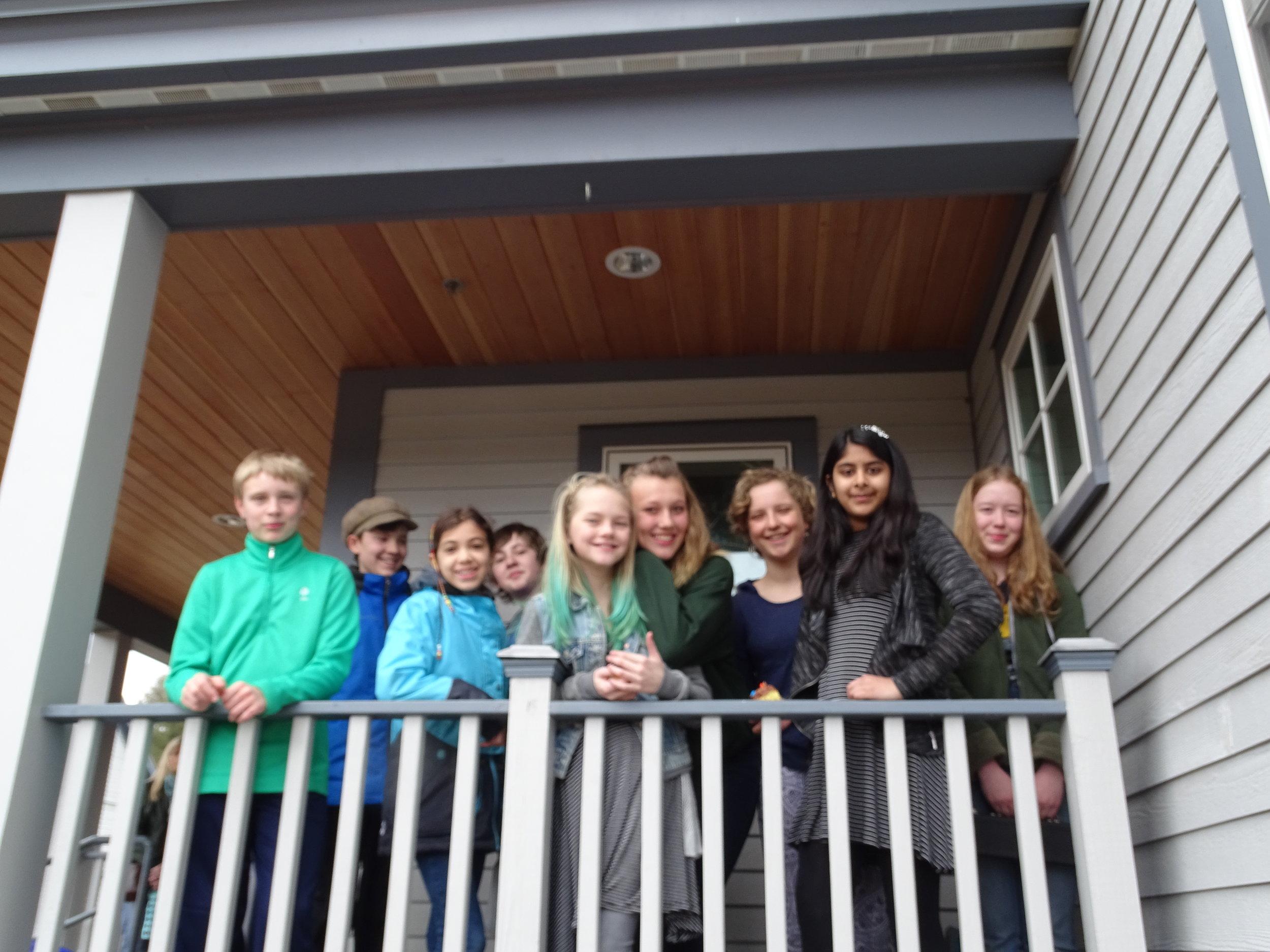 From left to right: Nelson Eaton, Mark Lamontagne, Claire Morgan, John Keenan, Katie Lyon, Ruby Yerkes, Waverly Griffin, Ishida Patel, Meredith ()
