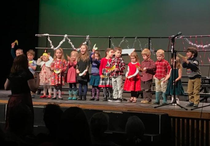 The Preschool class took to the stage at last week's concert. Lydia's leadership and their bravery and musical skills were all impressive!